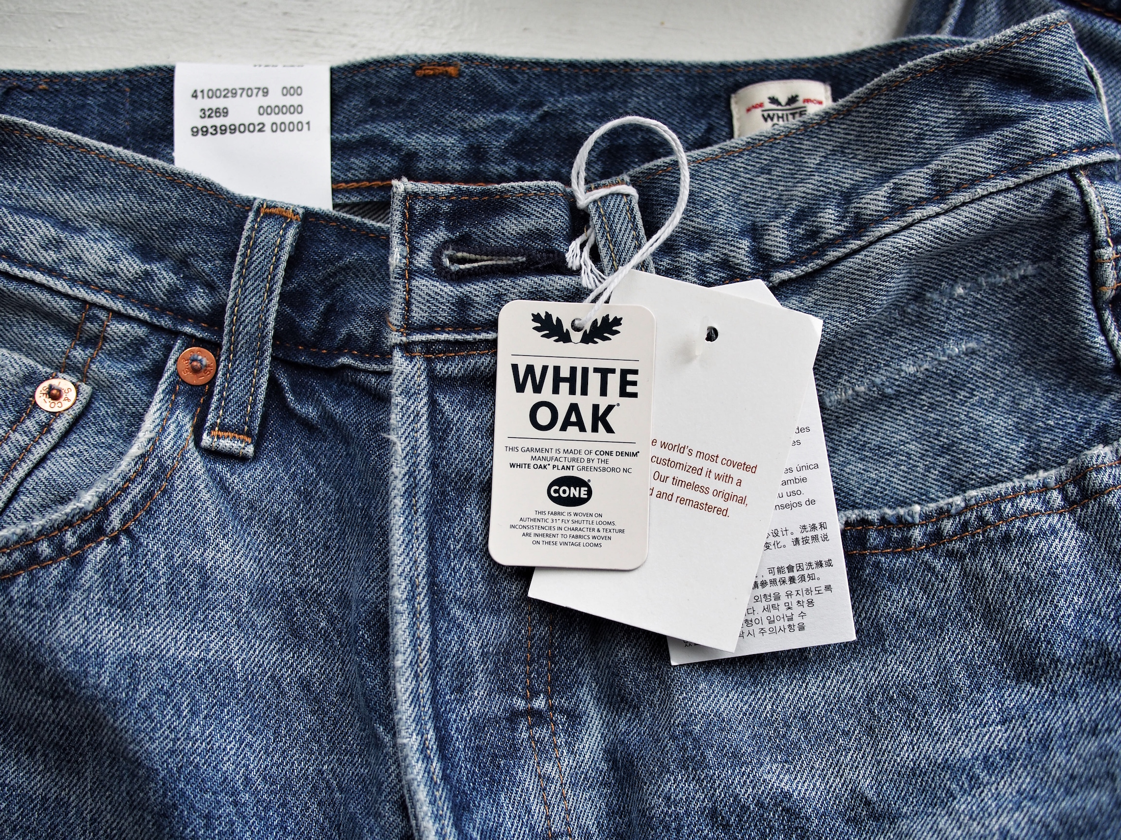 1a1cb72f29b189 'White Oak' means the denim was made in the USA in the White Oak Cone  Mills, which is (or was because unfortunately stopped operations late last  year) the ...