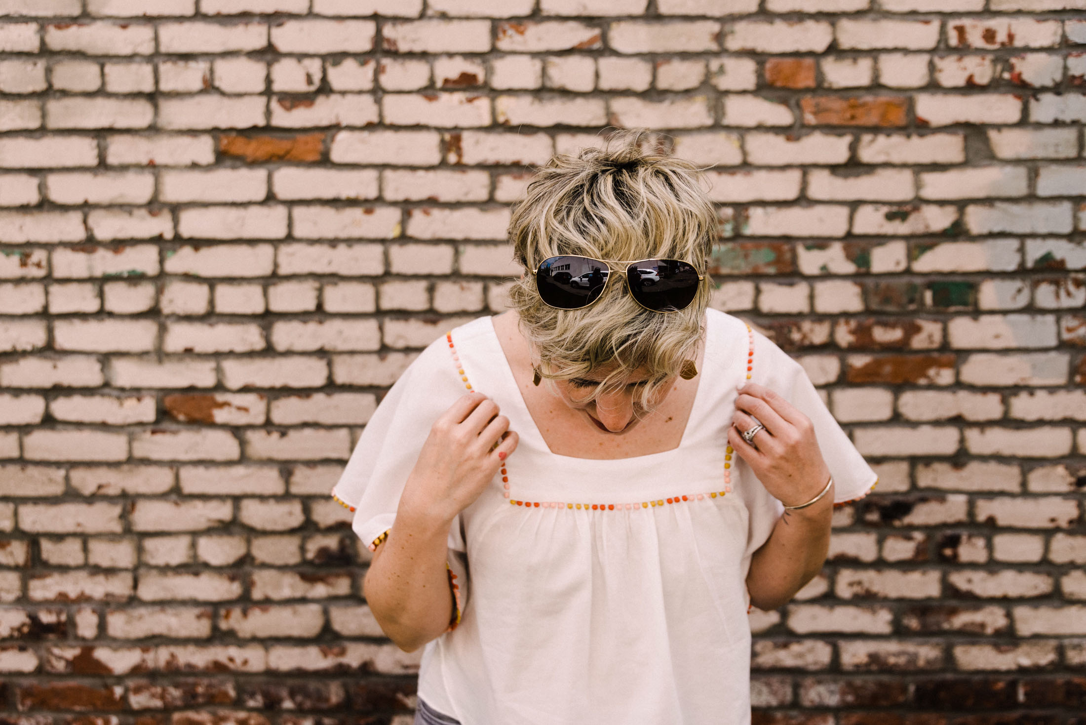 Your standard white tee & jeans outfit? Meh...it's a classic, but for a change, we're trying pretty embroidered shirts as an alternative. Check it out.