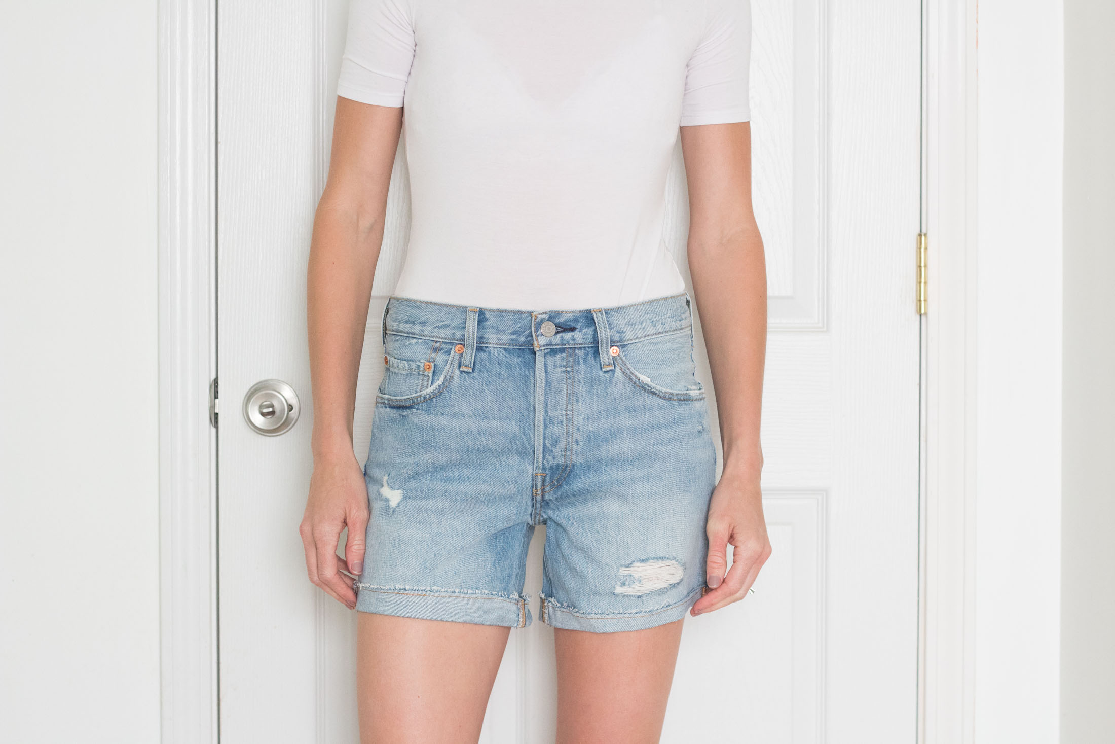 levis-501-cuffed-long-denim-shorts