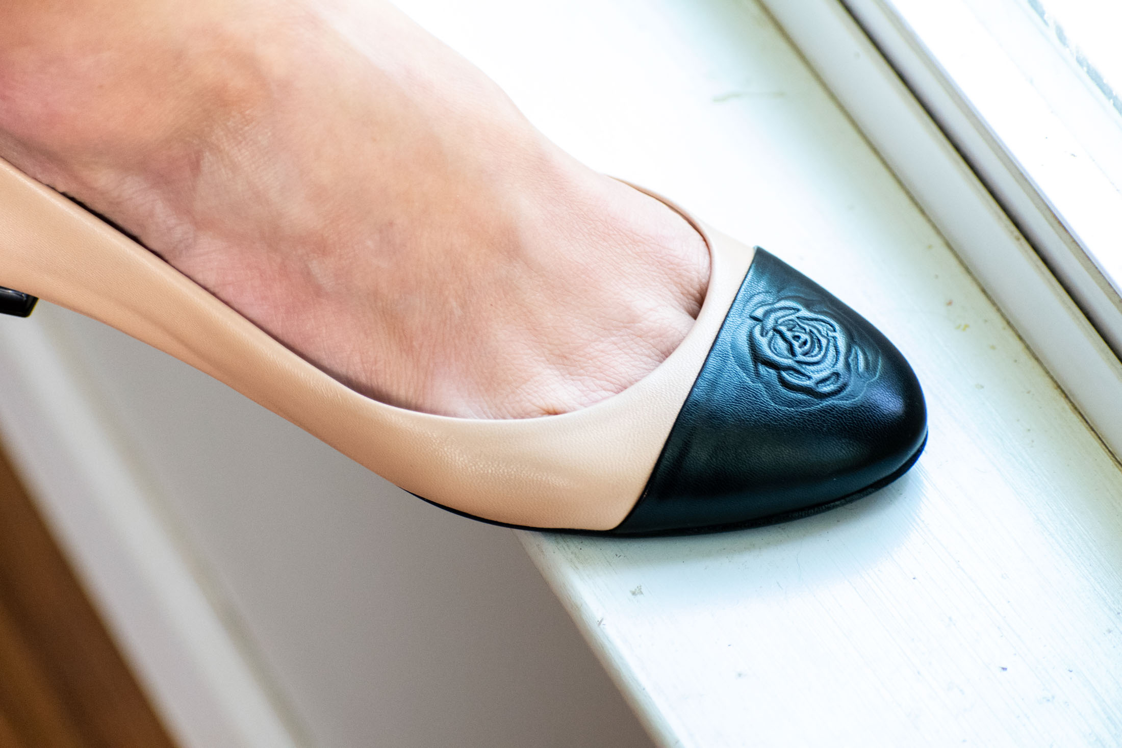 affordable chanel flats look