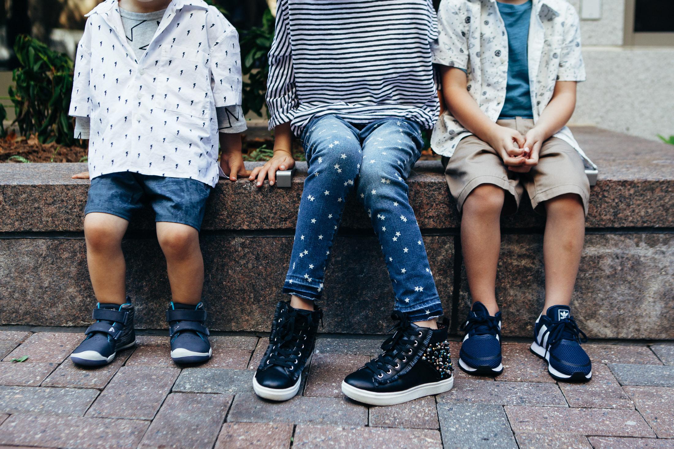 black hi tops little girls star jeans