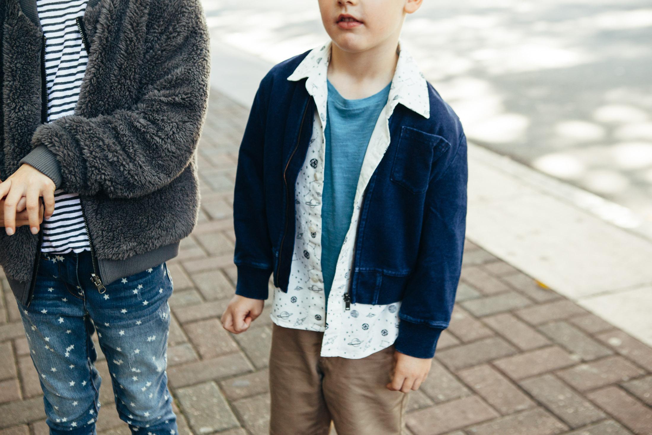 blue sweatshirt bomber jacket little boys
