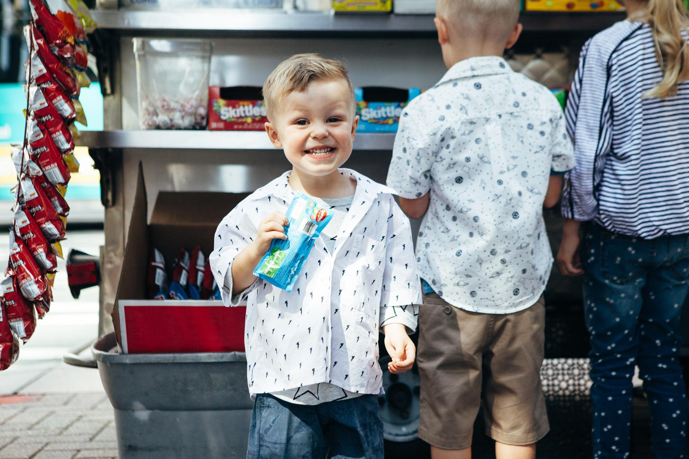 little boy lightening bolt print shirt