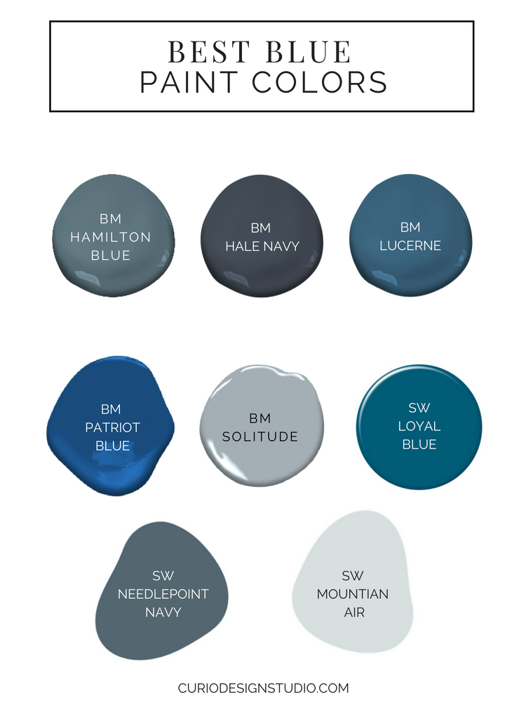 We're eyeing the best interior paint colors for home. Blue is a beautiful but safe go-to color palette to nail the saturated hues trending right now.