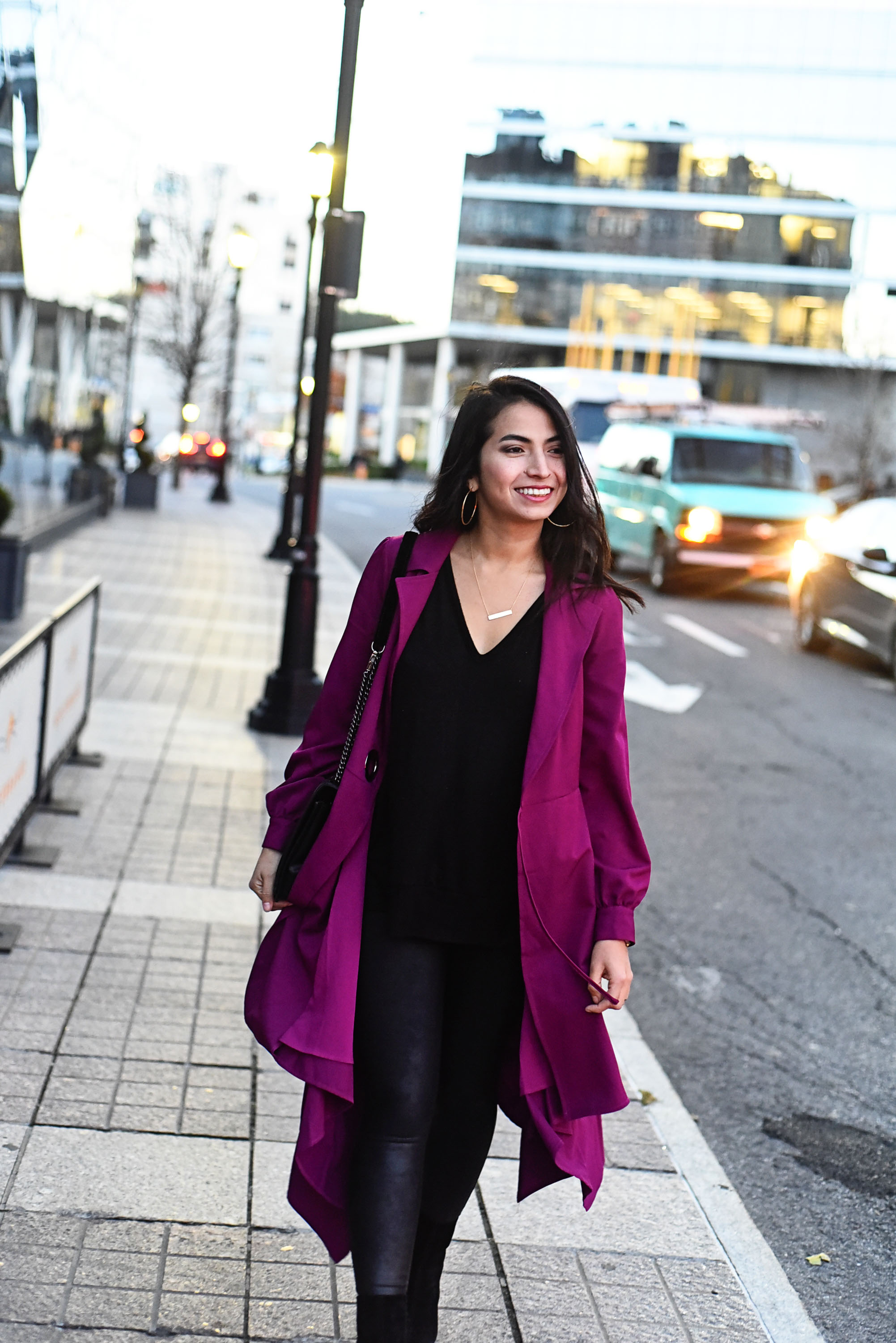 A wrap dress we can fancy up or dress down, plus wear as a coat and with leggings....Yes, please! Check out this insanely cool Chriselle Lim piece.
