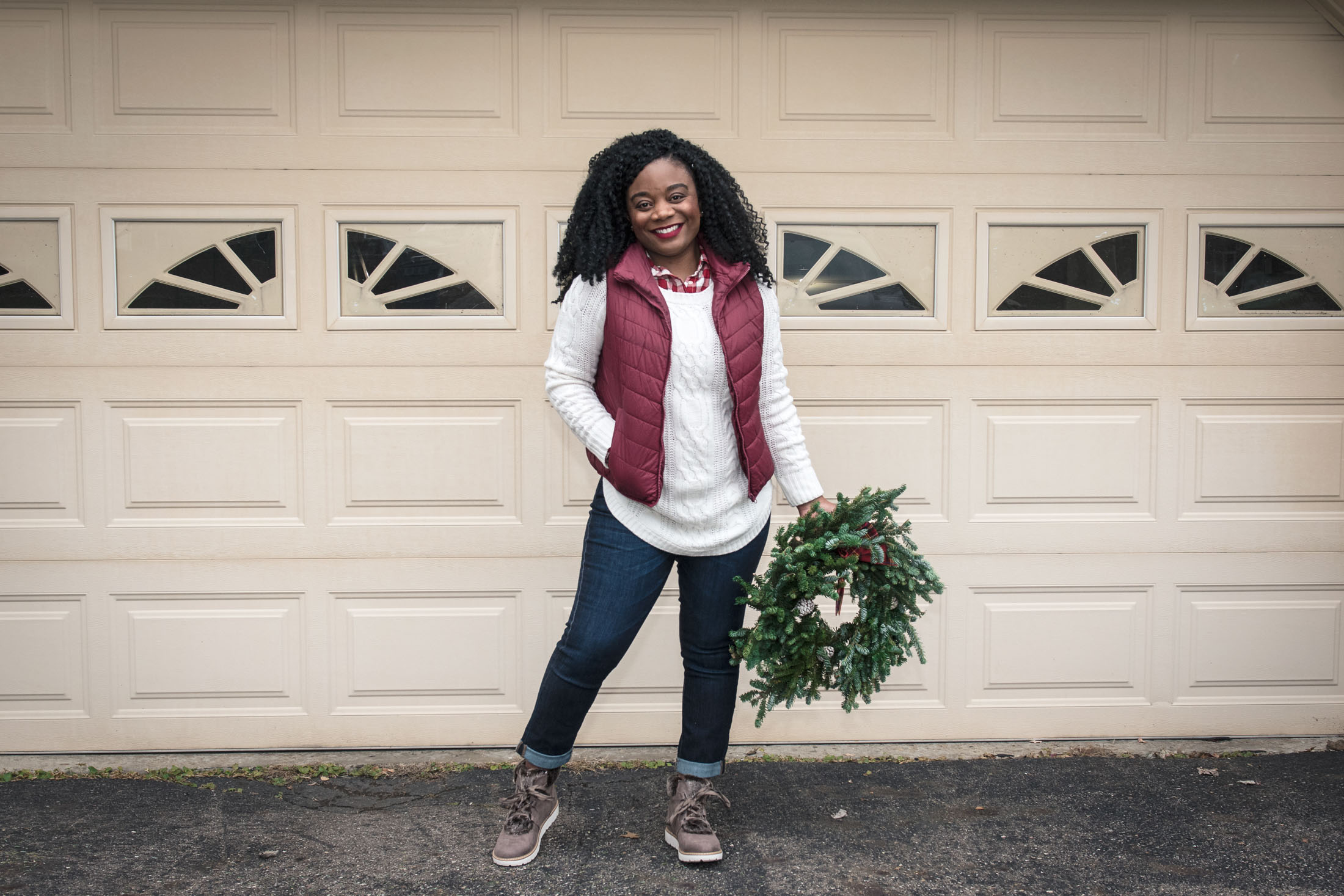 Wreath-hanging, gift-buying, tree trimming, dinner eating & holiday shopping. We've got your cute, festive-casual, go-to holiday outfit right here!