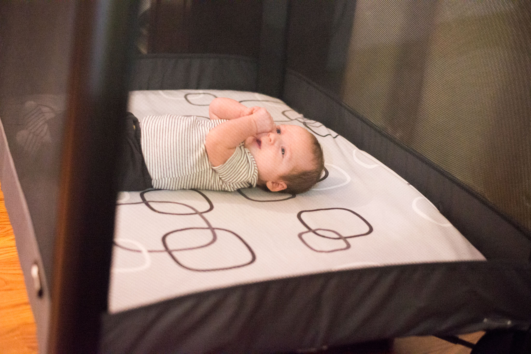 The 4moms Breeze Plus Playard is an insanely cool godsend for new moms. It's a bassinet, changing table and playard all in one. See it in action here.