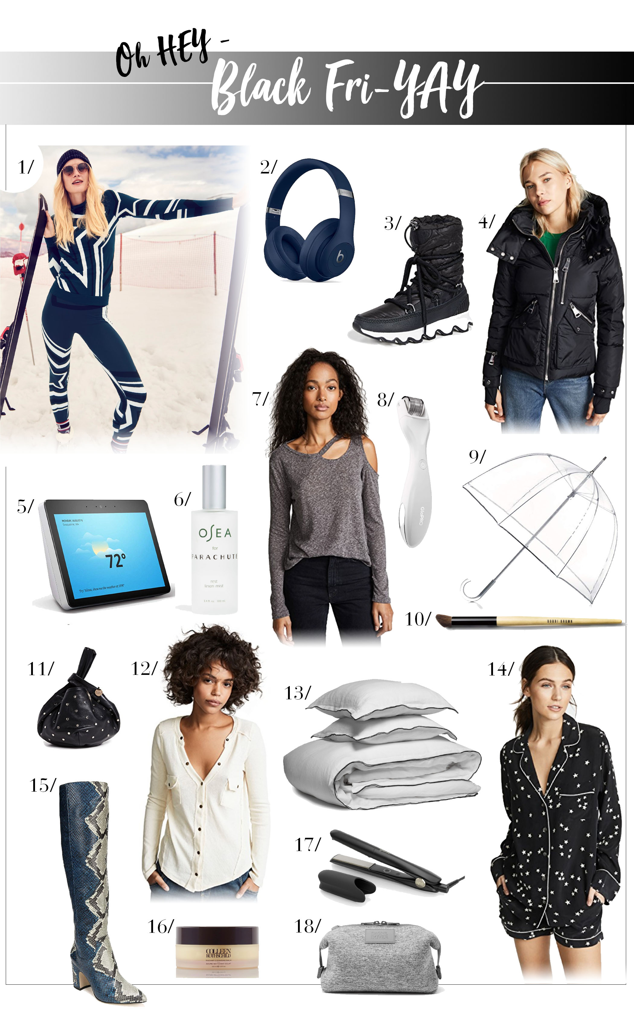 Solid Black Friday sales = great gift ideas, plus deals perfect for Mama's wishlist...Parachute sheets on sale, silk PJs, travel gear, bags & boots...yes!