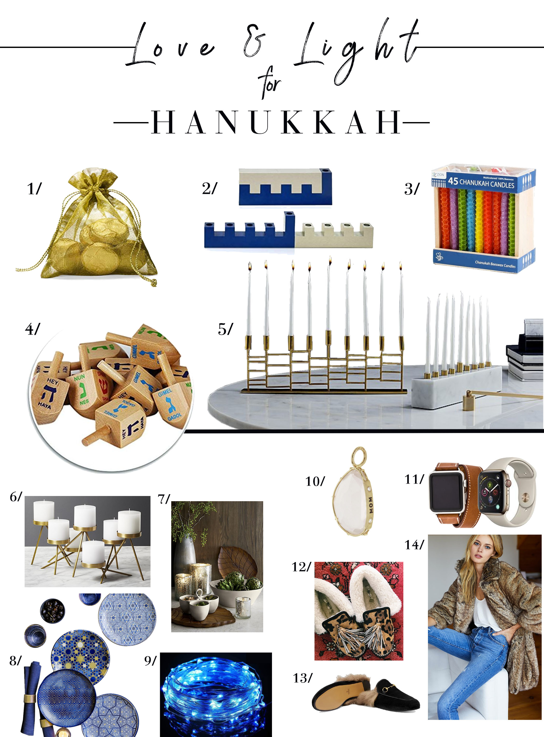 A house lit in blue can be super-fun...Hanukkah food is delish & Dreidel never gets old. It's time to light candles, share a meal & make wishes. Here's how.