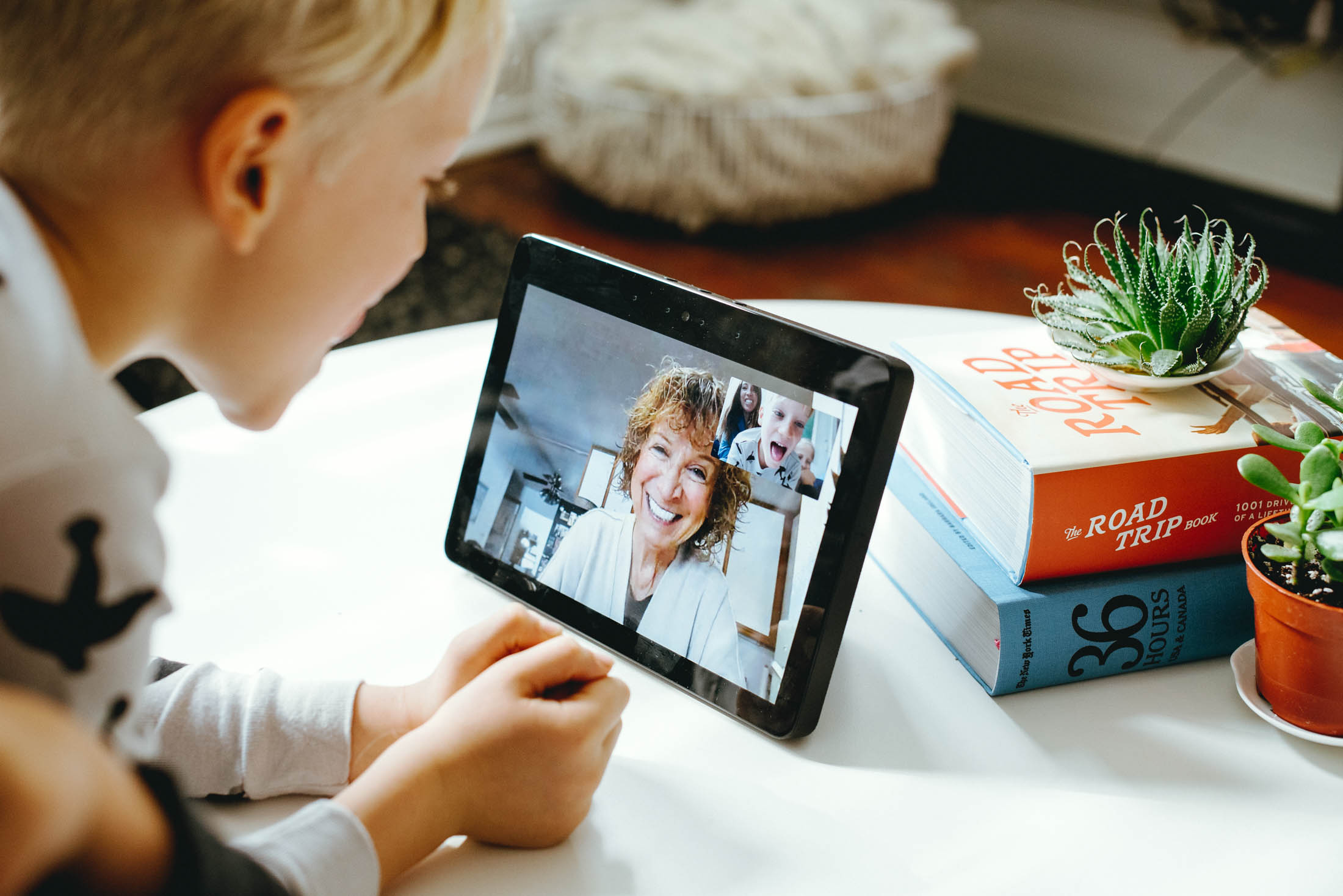We freaking love our Amazon Echo Show! The screen & drop-ins make it so easy to stay connected with grandparents & other family...it's a game-changer!