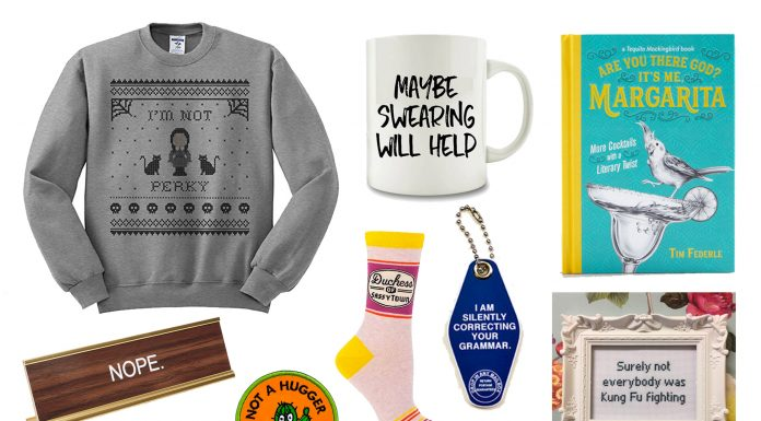 Sarcasm & dry humor are to be respected —not ridiculed, ya know? In that spirit, here's our list of witty gifts for your clever loved ones. You're welcome.
