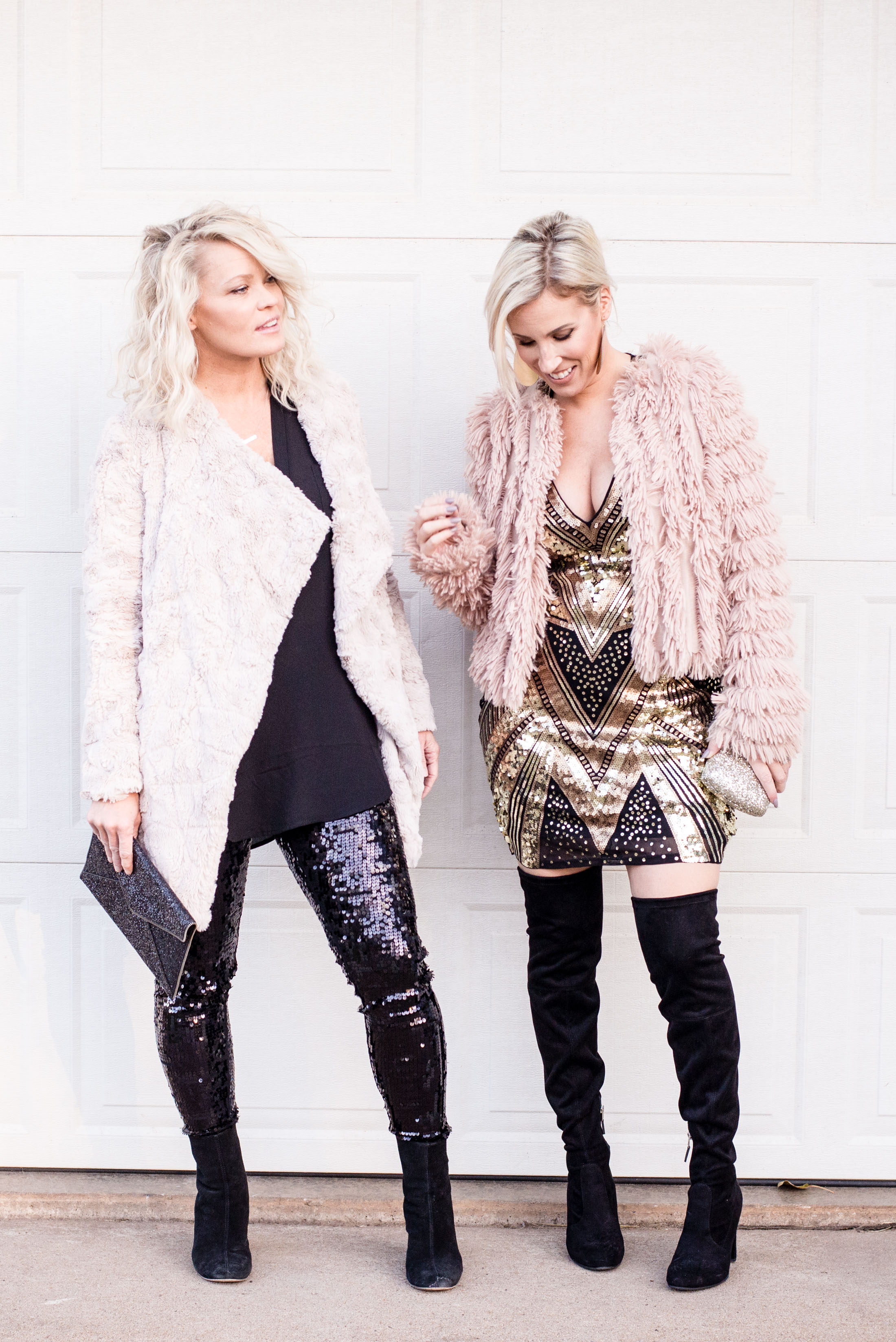 One of our fav affordable and FUN brands, Express, is offering amazing discounts right now...just in time for the holidays. Here are 2 party looks we love.