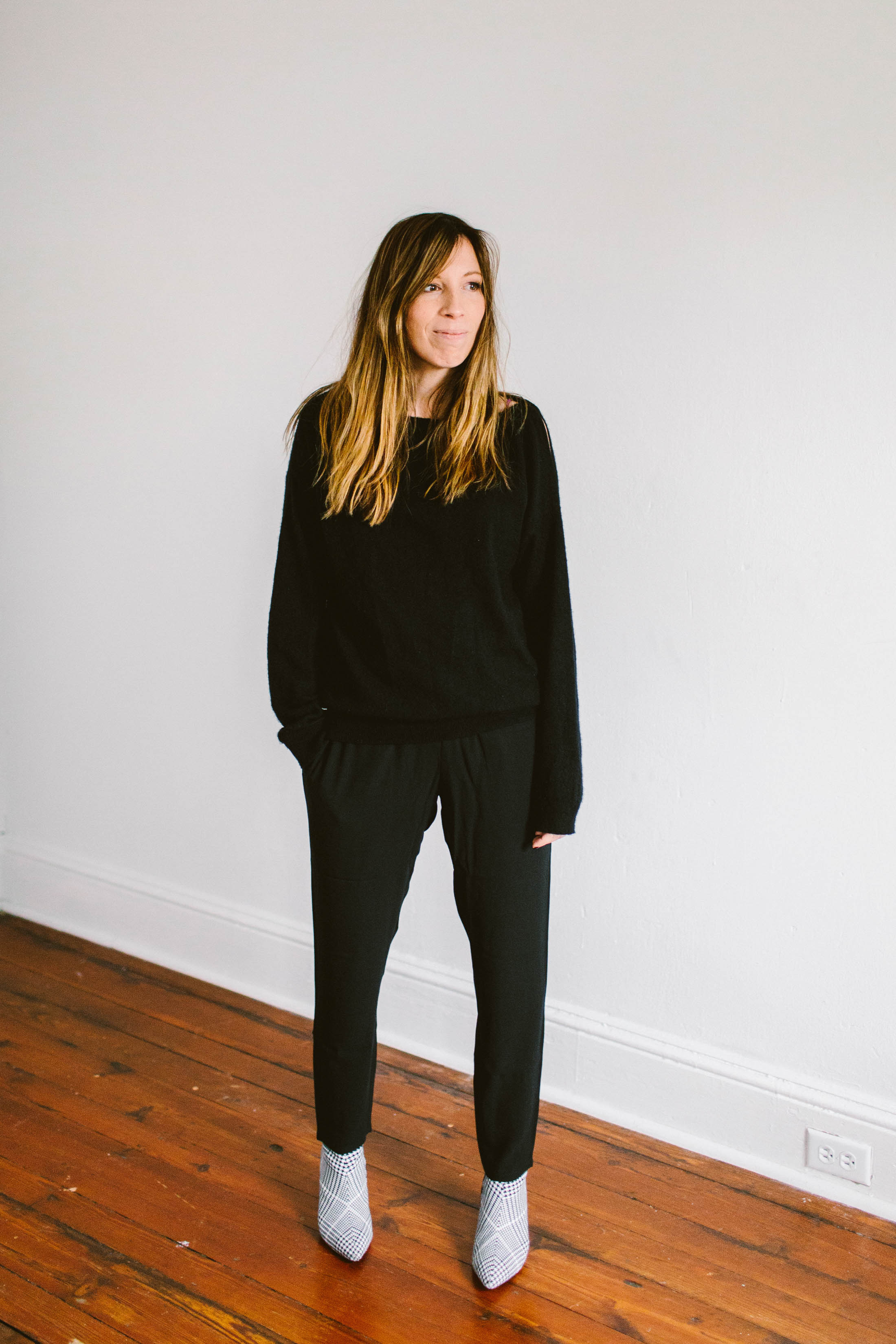 Slouchy silk pants, stretch crepe pants & a silk shell...we're styling 3 of the 8 pieces from EILEEN FISHER's The System. All signs pointing to....YES!