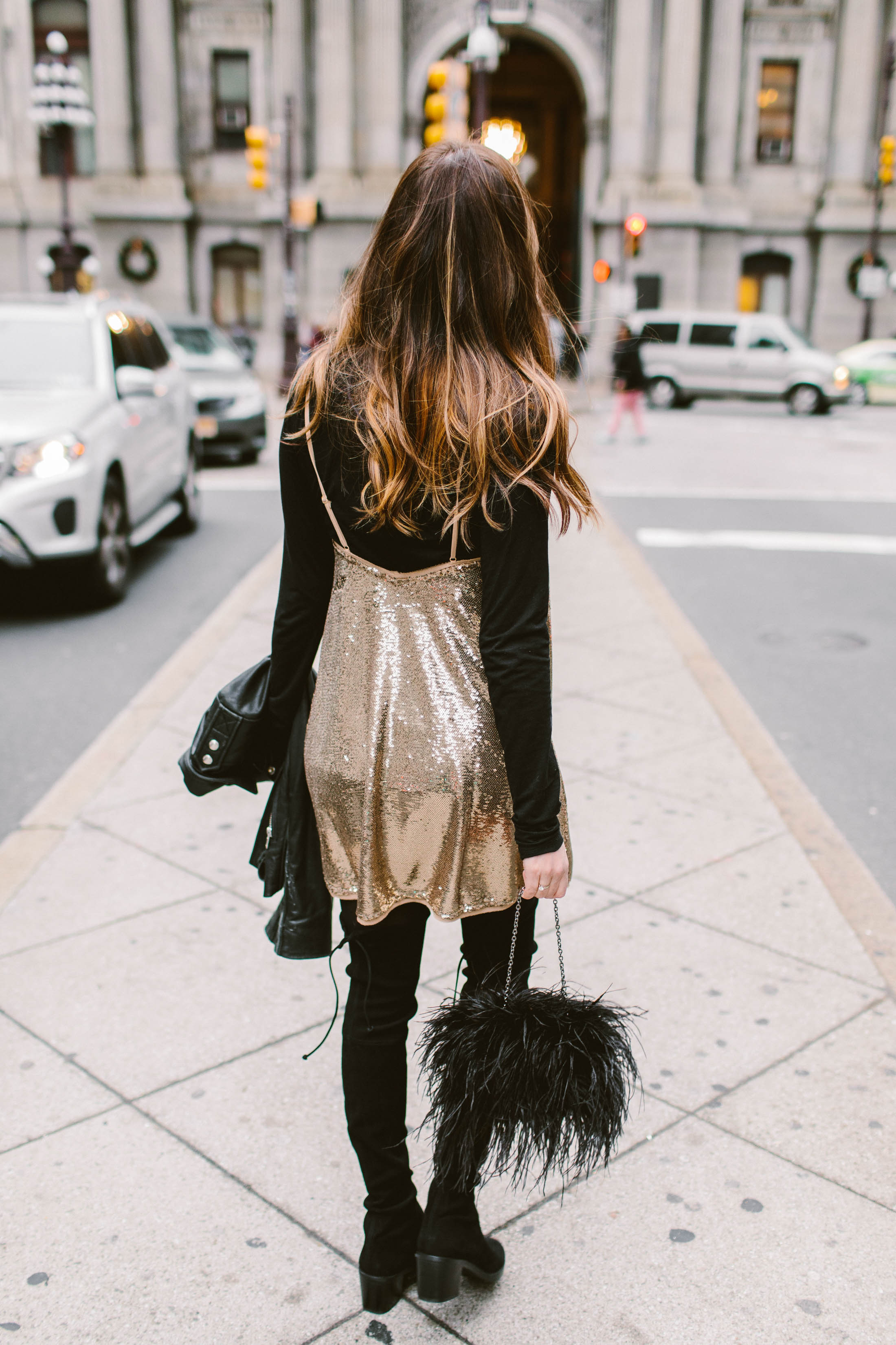 Bodycon dresses, shiny pants & sequins. Whether you're gearing up for a holiday party, NYE, or just feel like being fancy (yet warm)...this is for you.