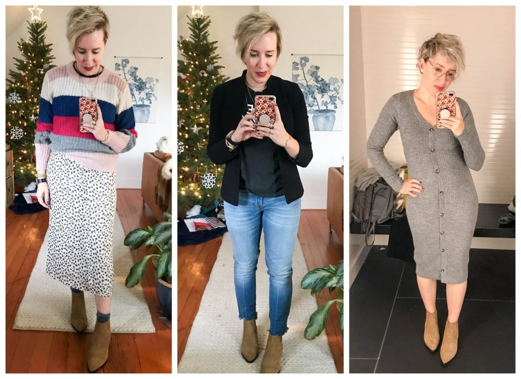 Ready for more holiday & after-Christmas sales? We're trying on all the things for ya — including J. Crew, Madewell & Abercrombie. Cute clothes inside :-)