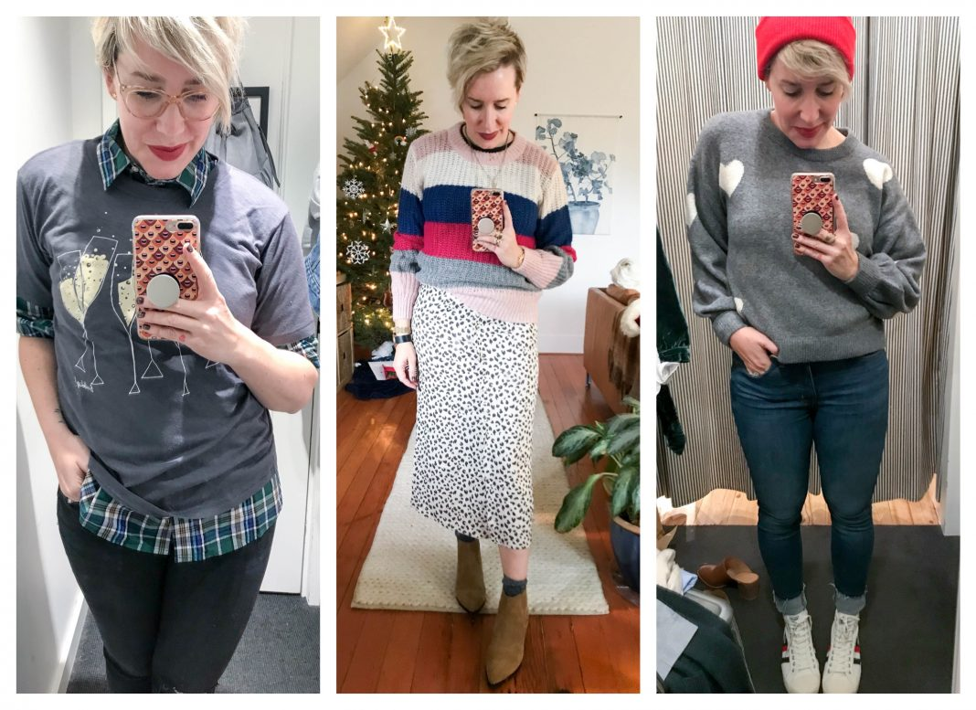 Ready for more holiday & after-Christmas sales? We're trying on all the things for ya —including J. Crew, Madewell & Abercrombie. Cute clothes inside :-)