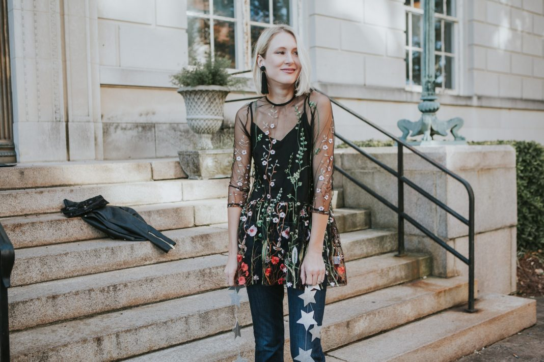 Sheer. Embroidered. Under $20...we're swooning for this fun mesh dress (or, er...overlay if you will). We're stying it 3 ways, for holidays & every day.