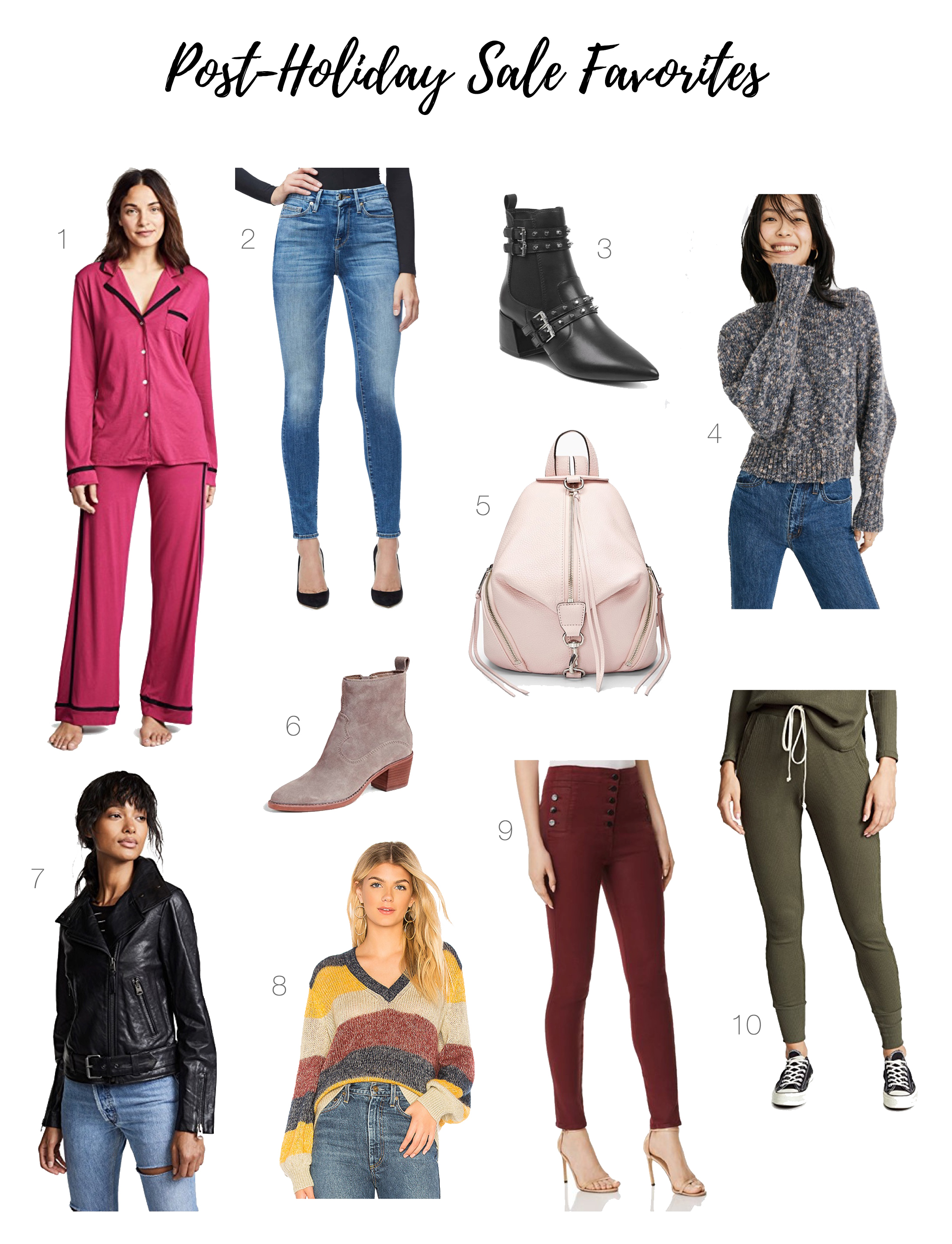 Cute booties, real leather jackets, cozy sweaters & pajama sets —yassss! These post-holiday & after-Christmas sales are delivering — check out our favs!