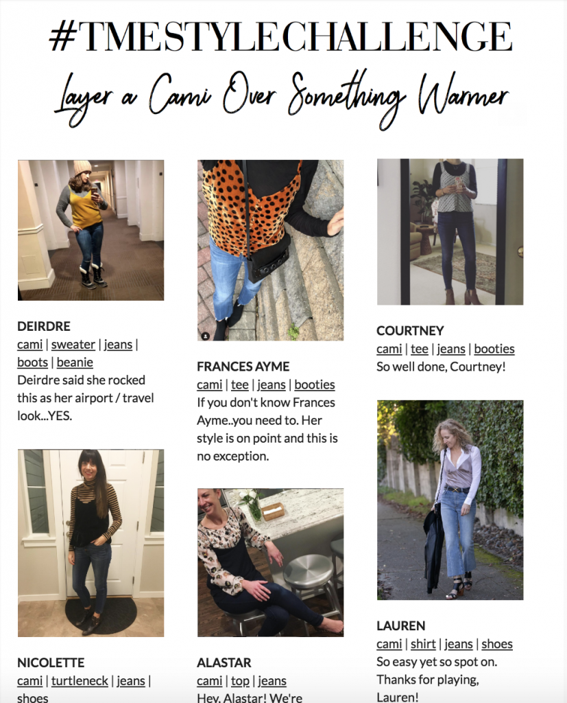 Readers —& SPECIAL readers, mwah haha — get ready for Week 2 of the Winter Style Challenge —all black with a pop of color. Show us what ya got, Mama!