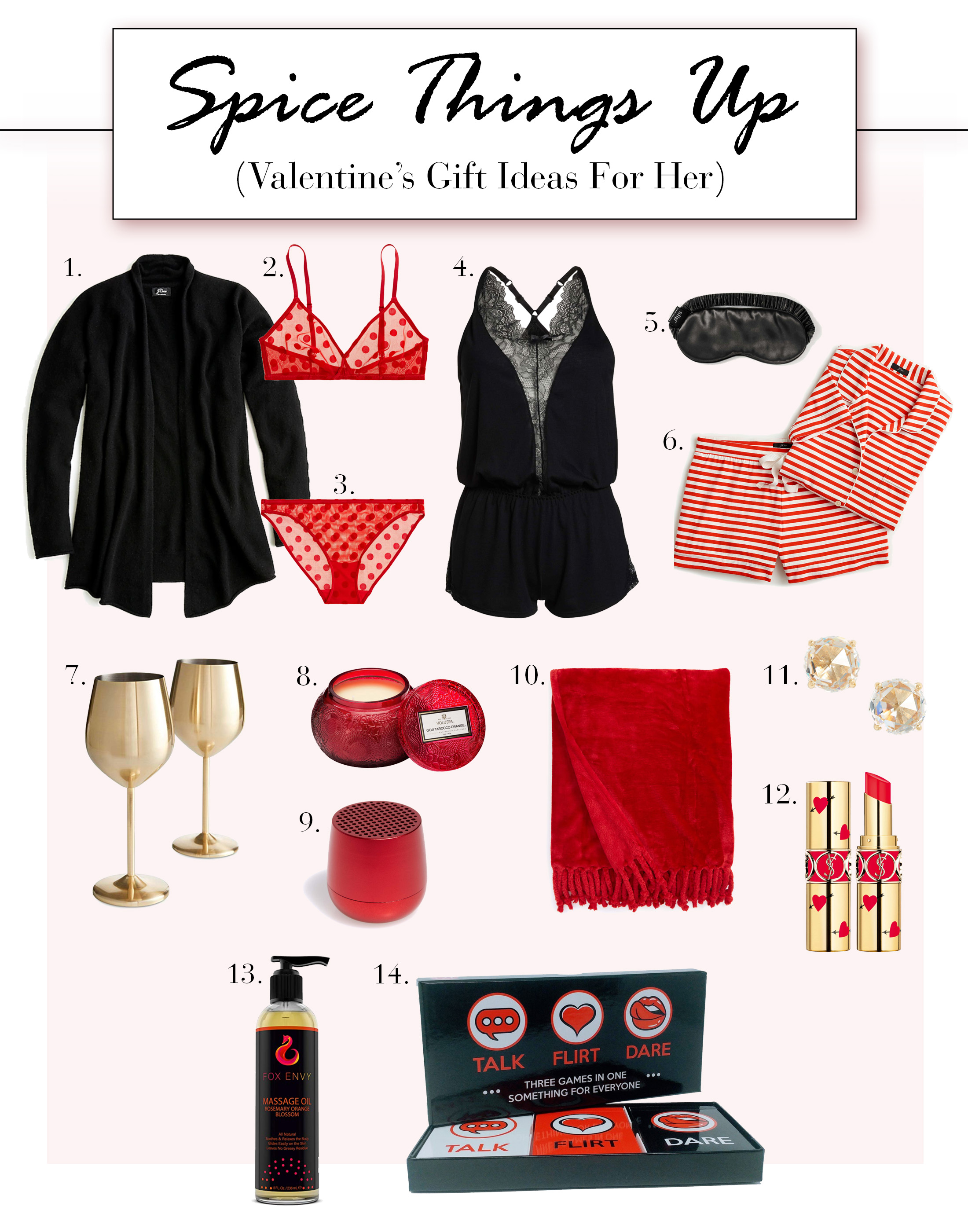 How do you celebrate Valentine's Day? Flowers & dinner; bubble bath & candles; chocolate & champagne? Whatever it is — our gift guide is the perfect match.