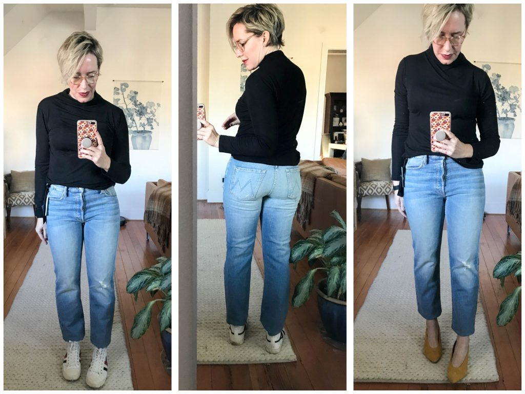 You know Mama loves her vintage wash jeans, but she needs a. bit. more. stretch. We're looking at Abercrombie, Madewell & Mother to find that unicorn denim.
