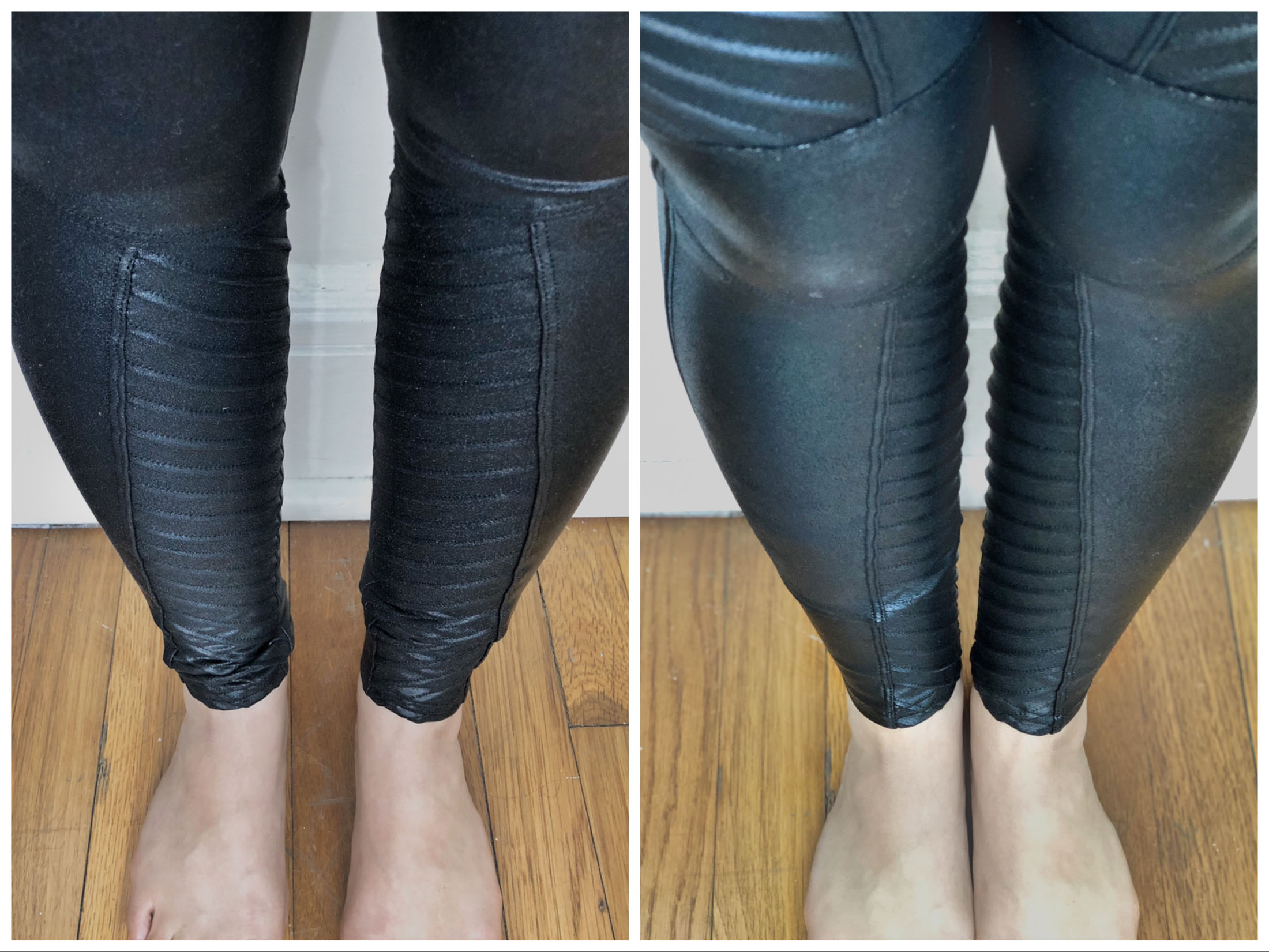 For the price, high-end leggings better be MAGIC. We're trying the Spanx faux leather leggings to see if they perform like the price tag. Pics inside.