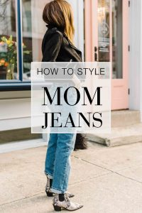 Mom jeans — high-rise denim with a tapered or straight leg — are, unexpected AND on-trend. We're styling them up with our fav outfits. Check it out.