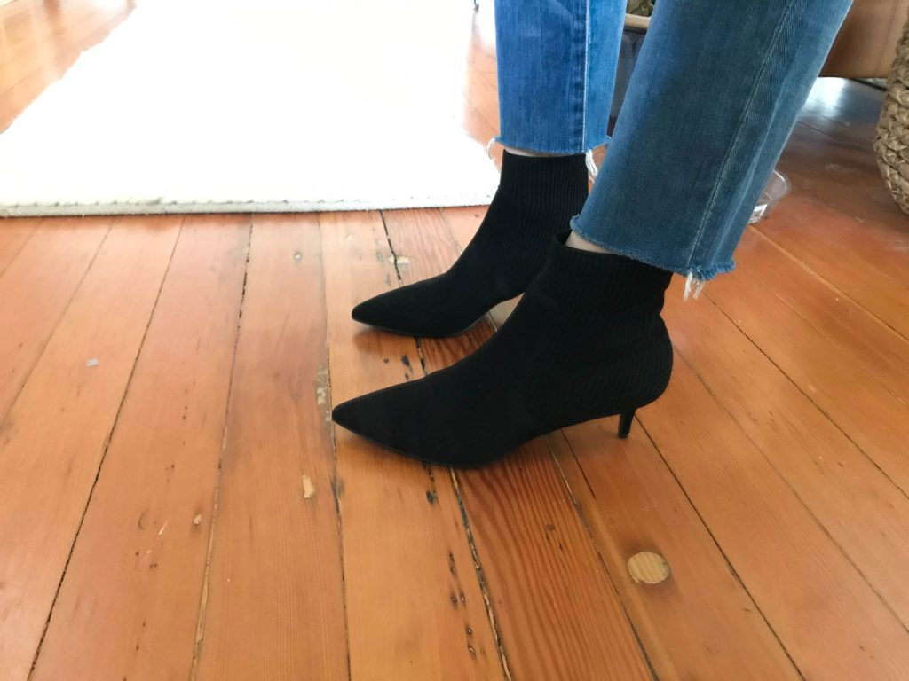 A sexy pair of black heeled ankle boots are the perfect date night go-to — but not if we can't walk in 'em. Which killer kitten heels are your favs?