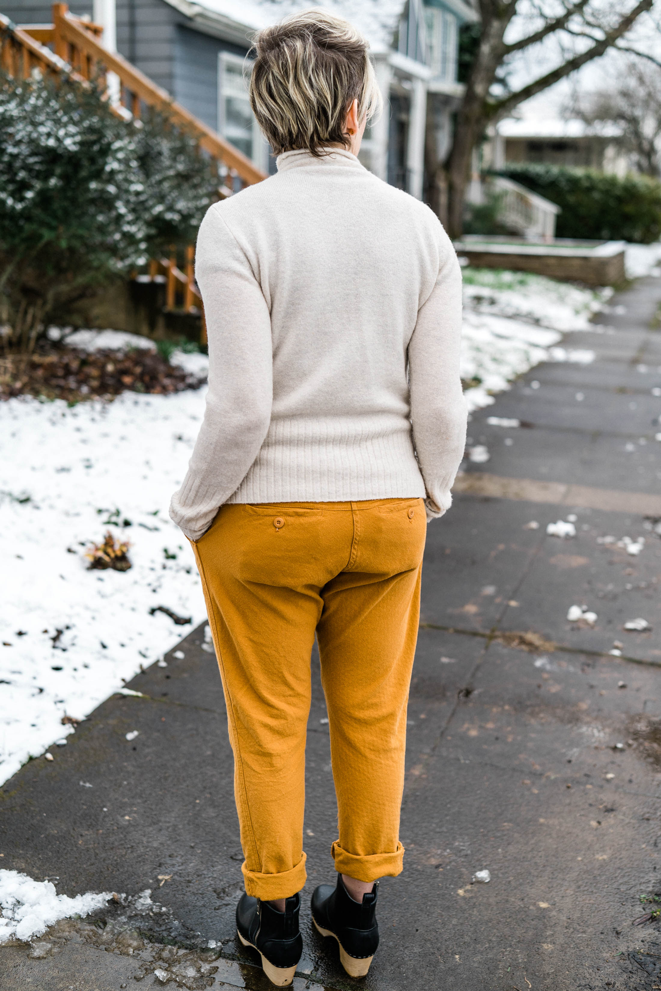 Mustard yellow — the warm neutral we're obsessed with right now — is an oh-so-needed alternative to jeans. THIS pop of color is the new on-trend go-to.