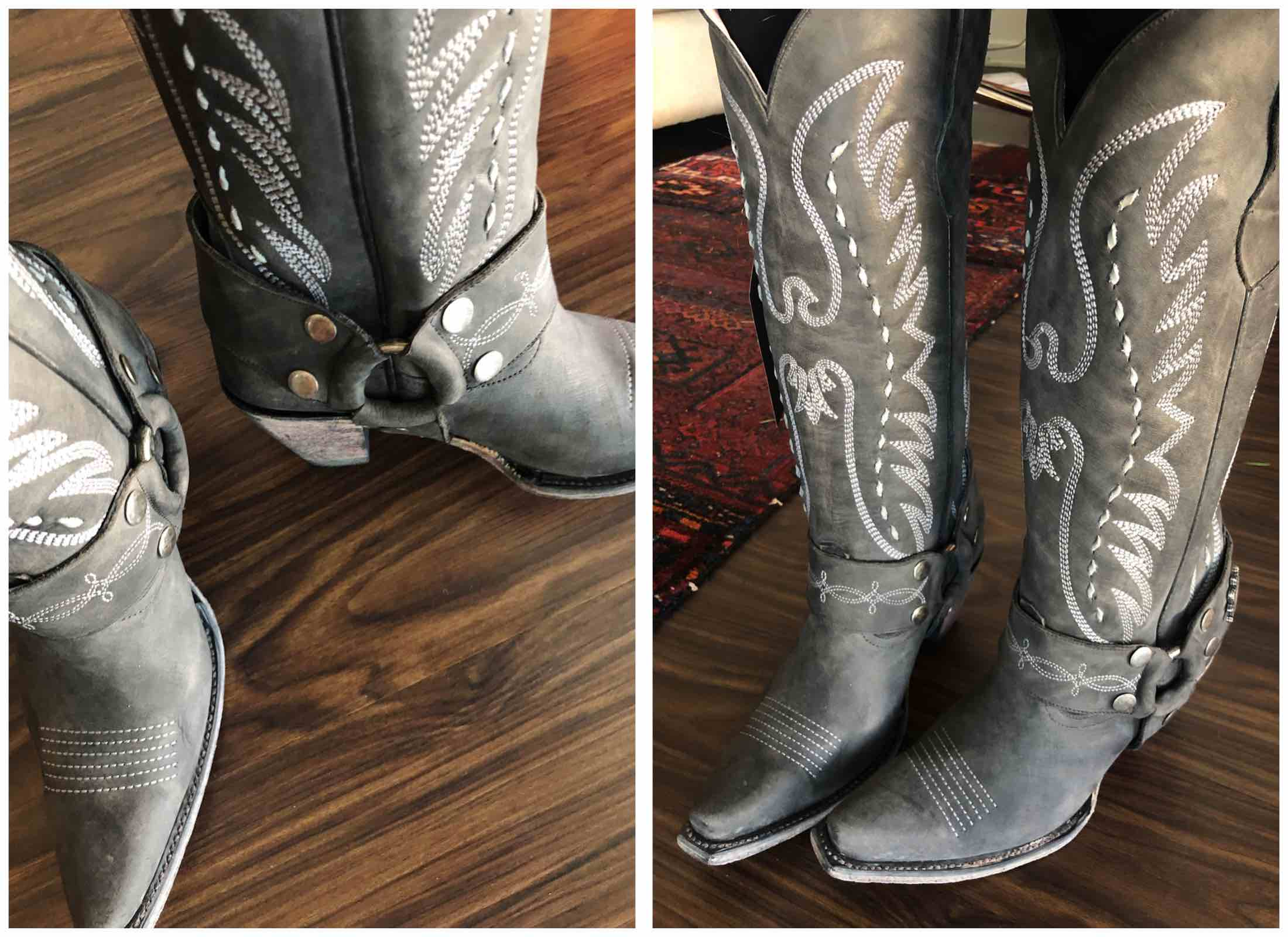c3124d643 Perfect year-round statement shoes? Western boots. Outfit-making,  seasonless,. Black LANE BOOTS The Vagabond Knee High Western Boot ...