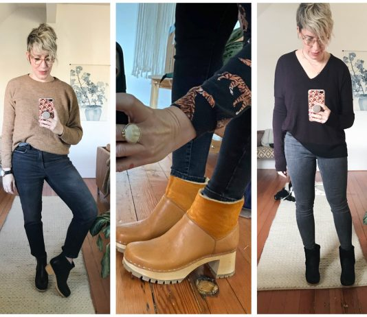 Mamas, we totes dig the wooden clog boot — it's a classic. So we're comparing the No. 6 shearling-lined with the unlined Swedish Hasbeens. The best boot?...