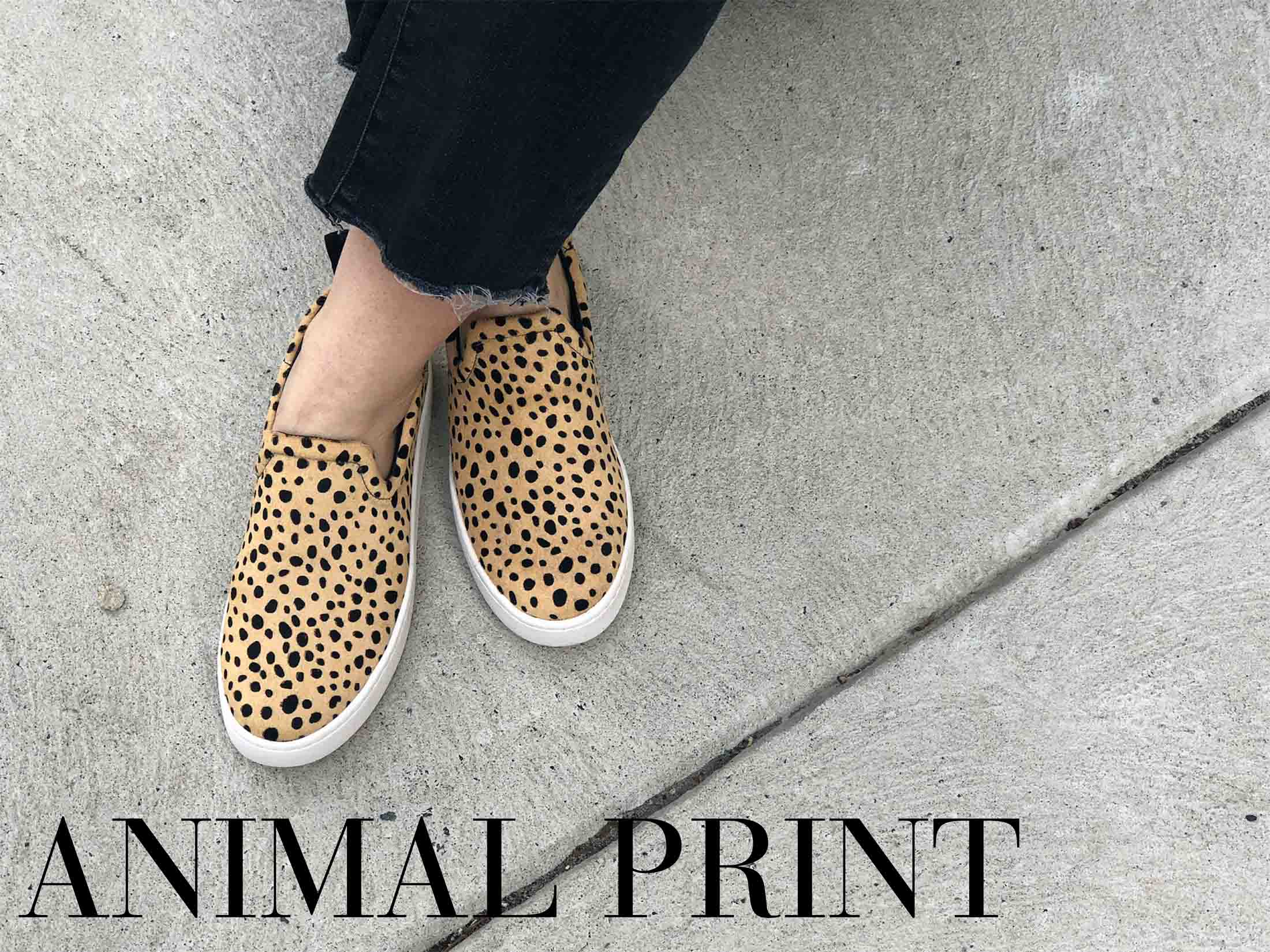 Put on the sneakers & call it Spring! It's time to show some ankle, so check out the animal prints, bright whites & bold colors in our tennis shoe roundup.