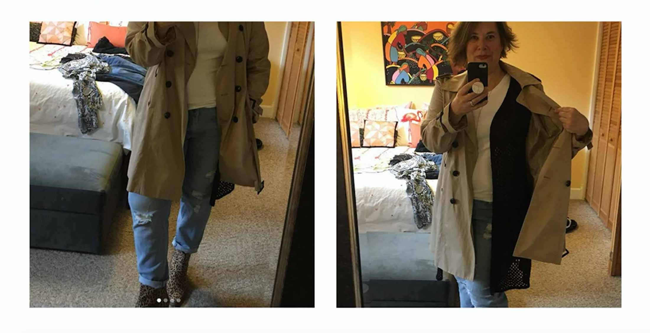 Week 1 of the #TMEStyleChallenge —cute rain gear — is over & we're on to Week 2. Show us your rich spring neutrals —tan, camel, white, let's go!