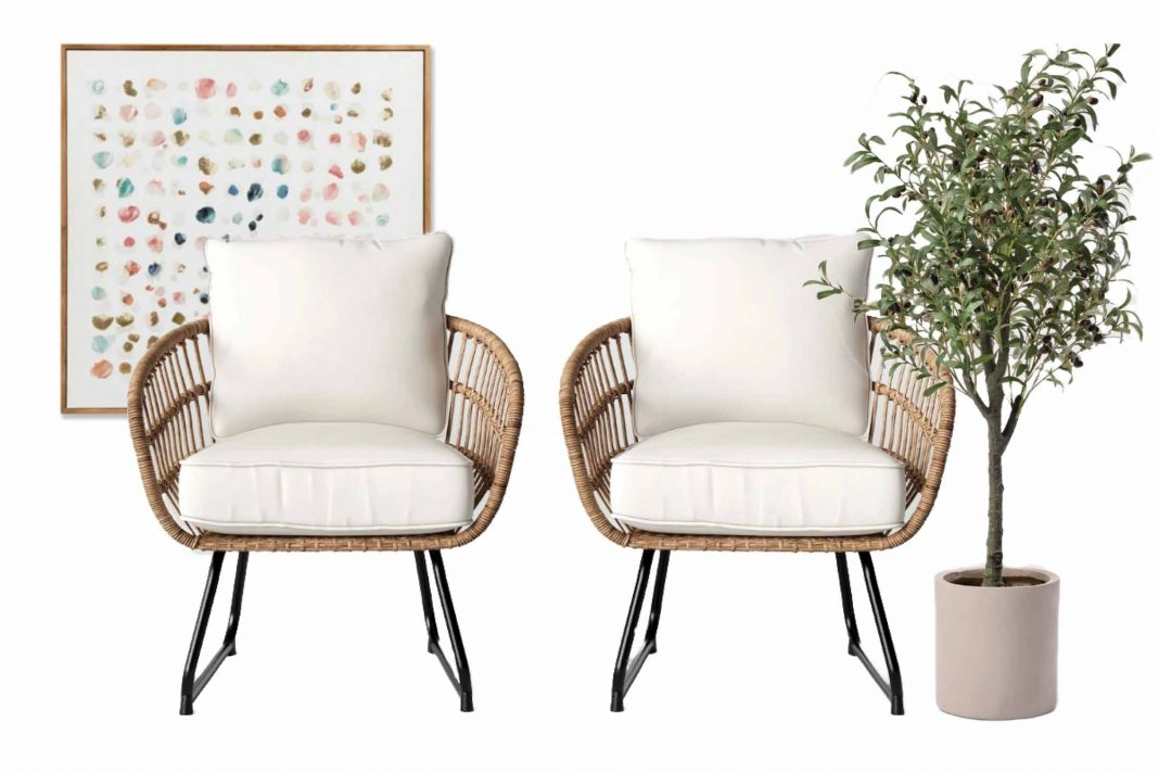 Wall decor, indoor/outdoor plants, towels, pillows & rattan convo chairs...we're loving it all as we refresh our homes for spring. The sales are good too.