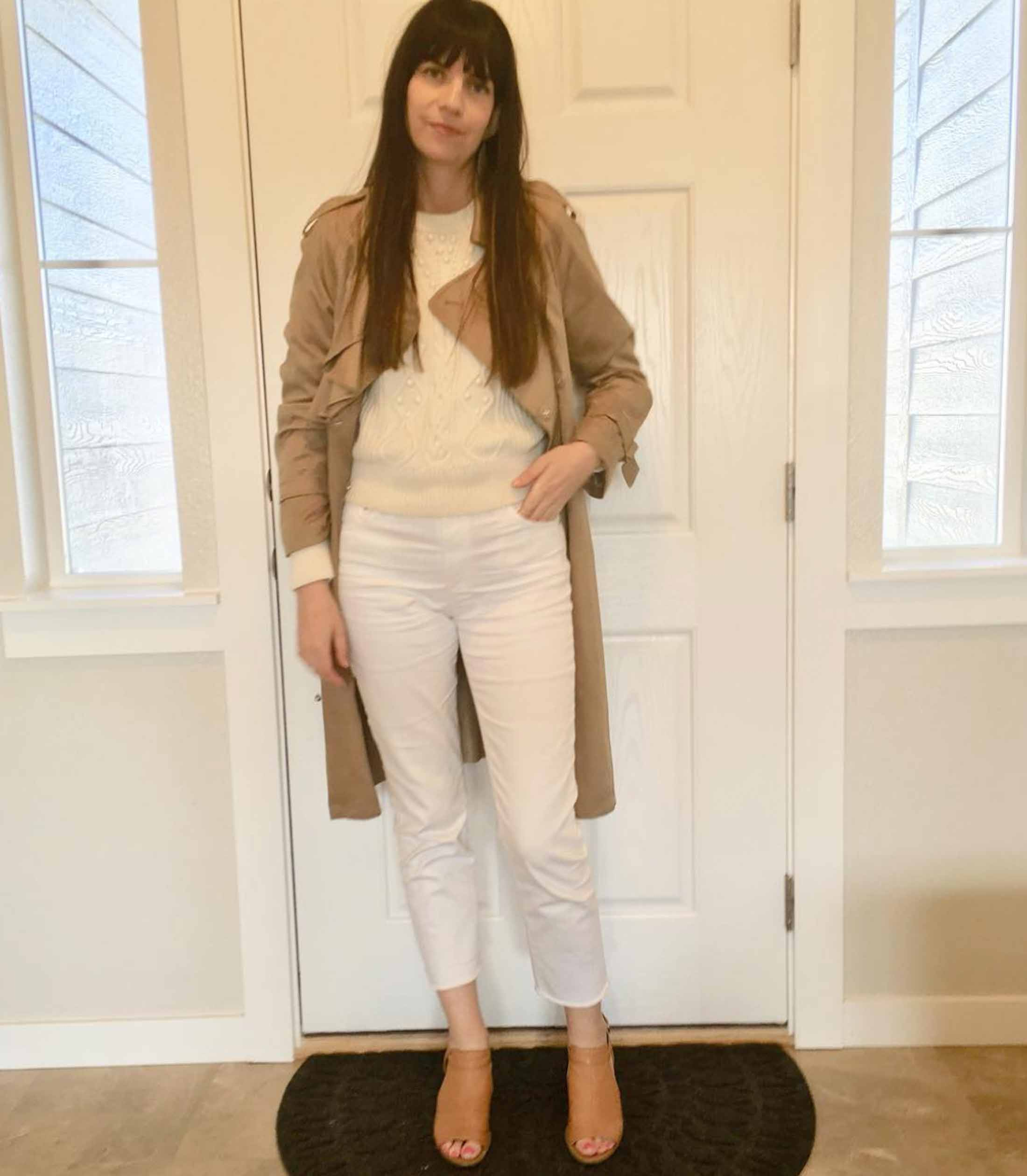 Camel, white, off-white, caramel, beige & brown....Spring head-to-toe neutrals, we're lookin' at you! It's Week 2 of the #TMEStyleChallenge!
