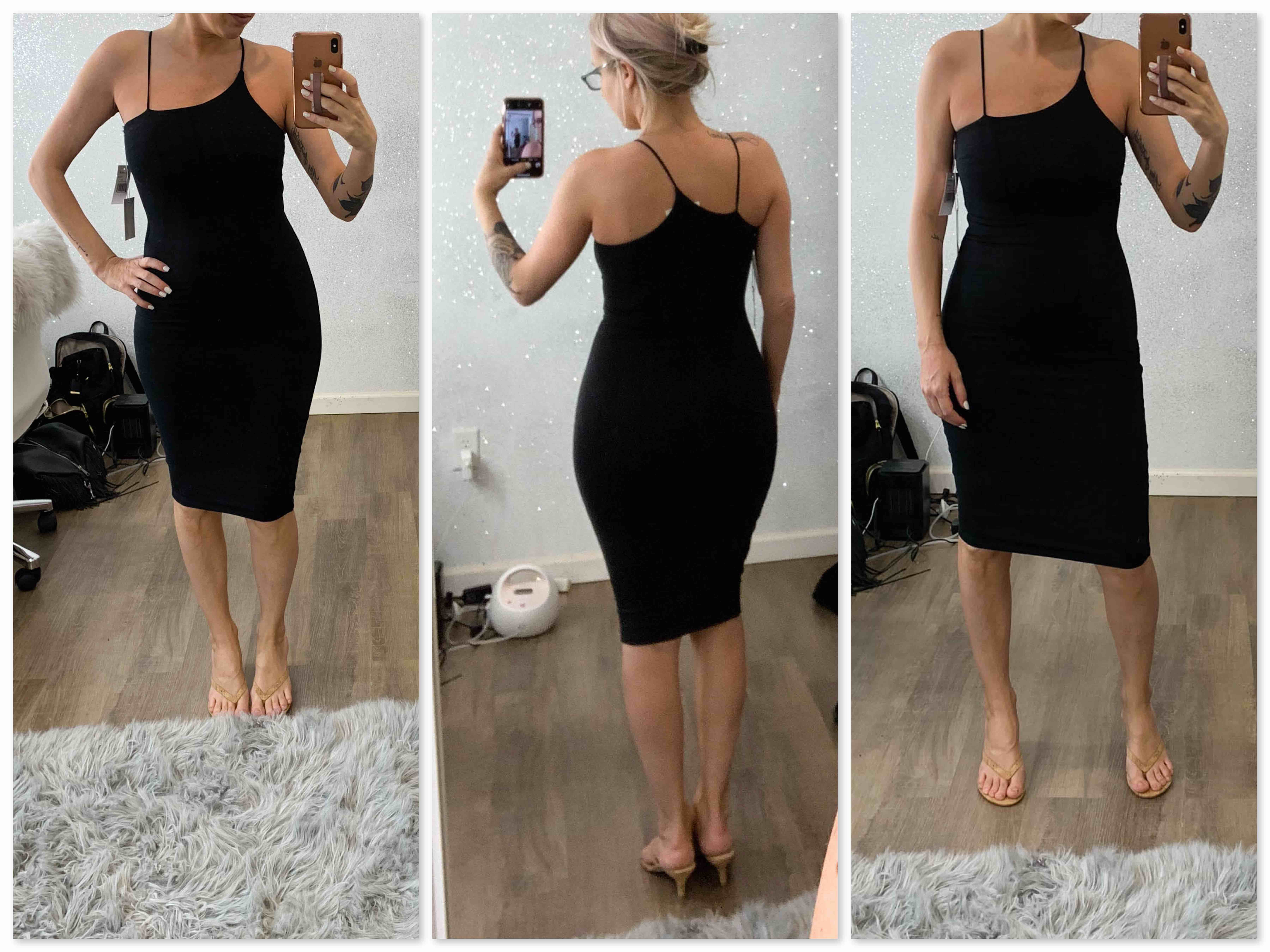 The perfect little black dress is too good to pass up. This is 1 of those times. With sizes for all body types, Good American's bodycon dresses are win-win.