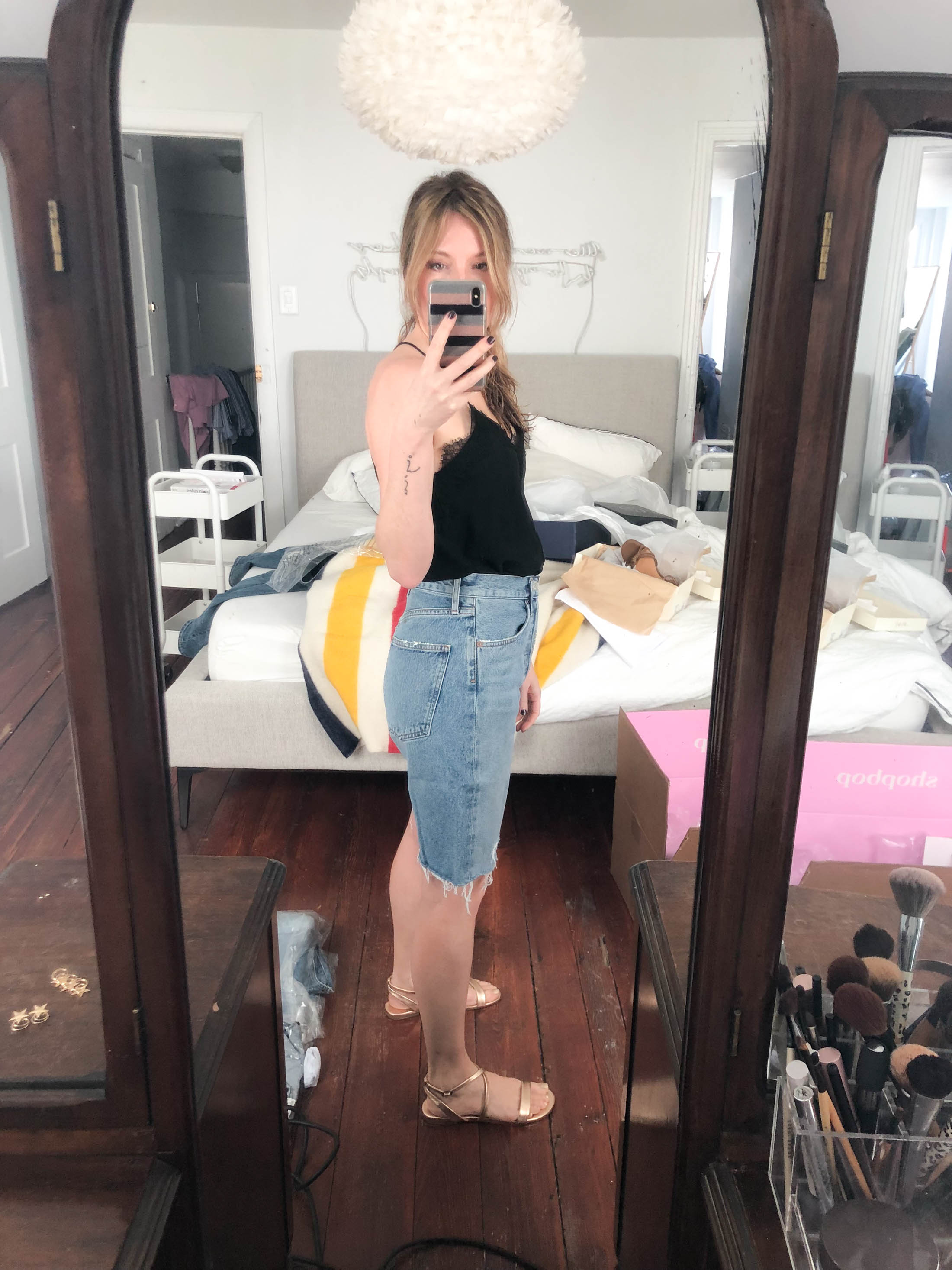 1a0cad6416 A Rather Horrifying Denim Shorts Try-On Sesh (& What I'll Actually ...