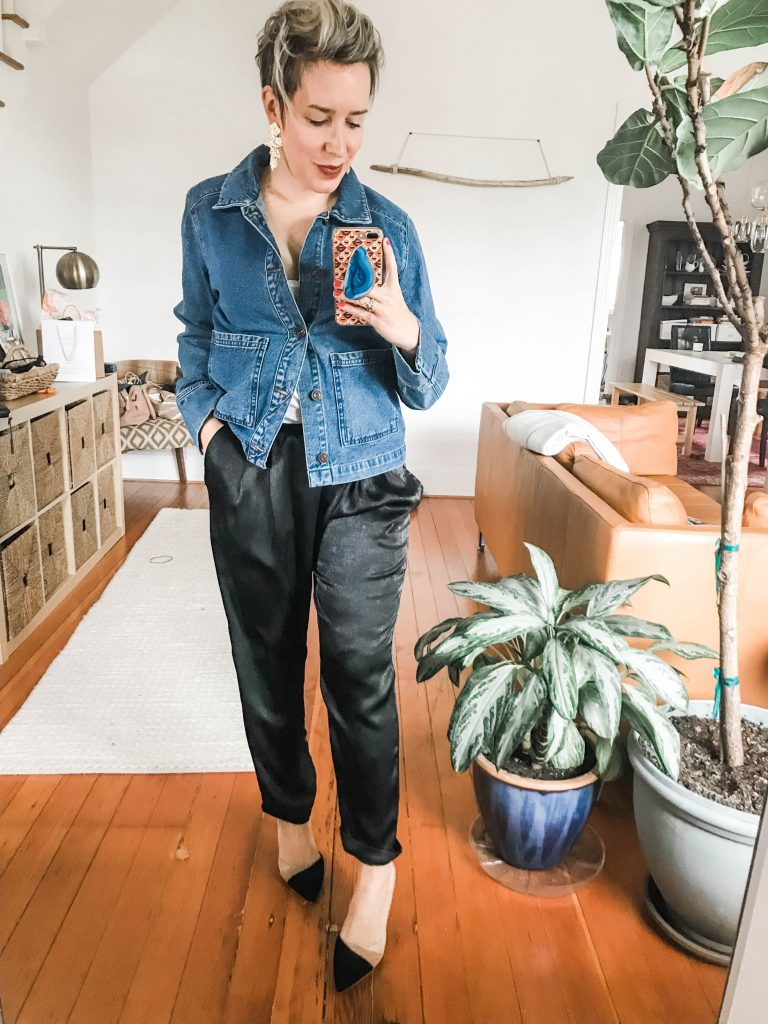 Denim jacket LOVE. Jean jackets are cost-per-wear, investment wardrobe pieces on lock. Wear 'em to toughen up, to dress up, be warm & be cool. Here's how.