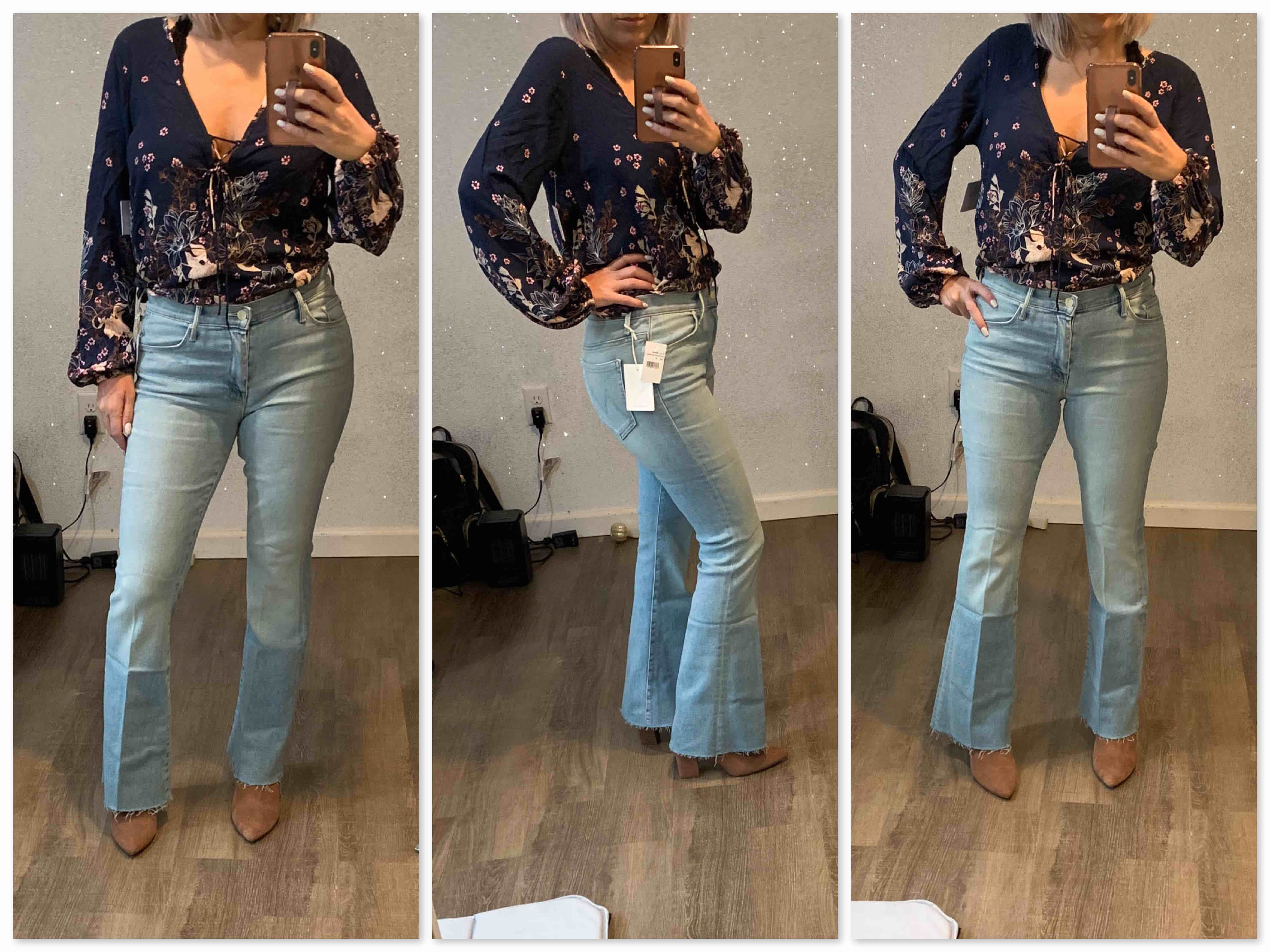 High-rise? Wide-leg? Flares? Mom Jeans? Boyfriend Jeans? The jeans trends are all over the place right now, but today, we're here for the flares. Come see.