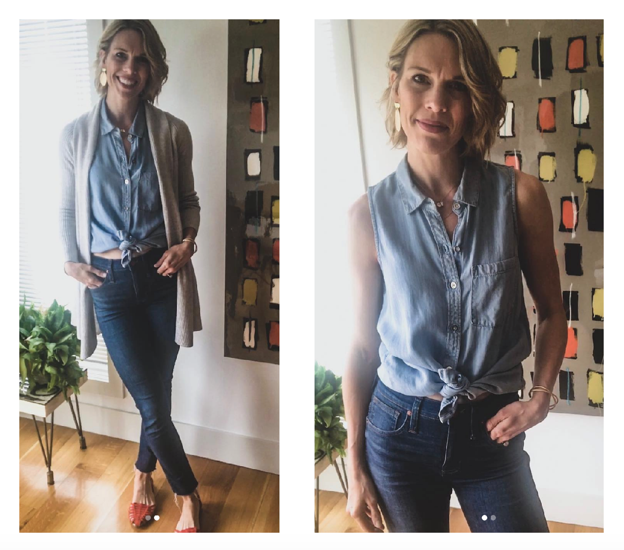 Of all the current spring trends, mix & match denim is 1 of the most fun. Flares, mom jeans or high-rise, plus a denim jacket...our readers have style!