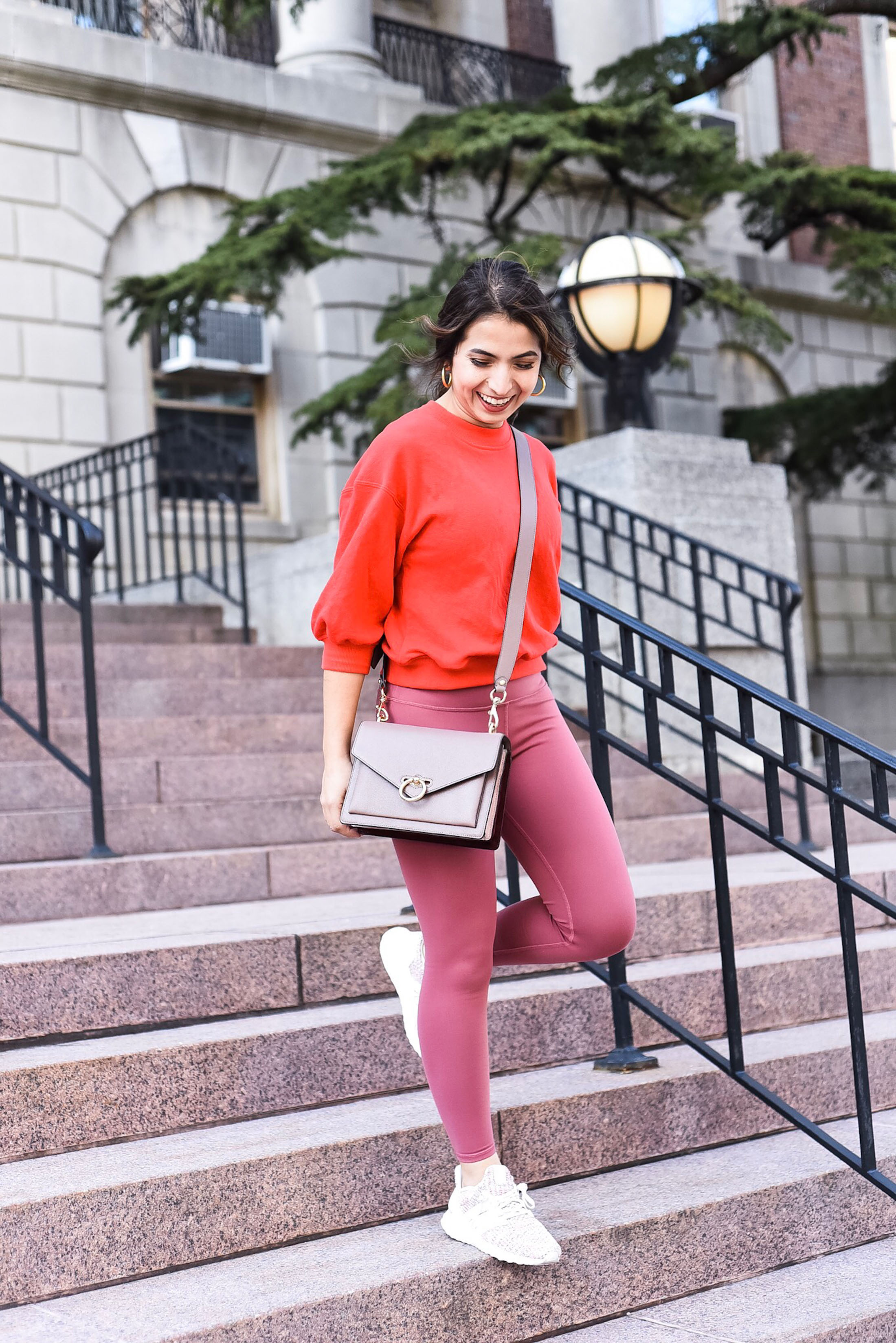 Athleisure is kind of an art. Leggings & tops seem so simple, but looking polished takes thought. A good bag & cute sneakers are the fix. Here's how.