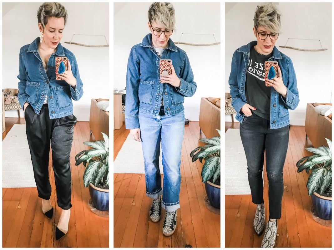 Denim jackets are SO good. Dress 'em up or dress 'em down — they never go outta style. Our new fav is a boxy jean jacket — rock it with these 5 outfits.