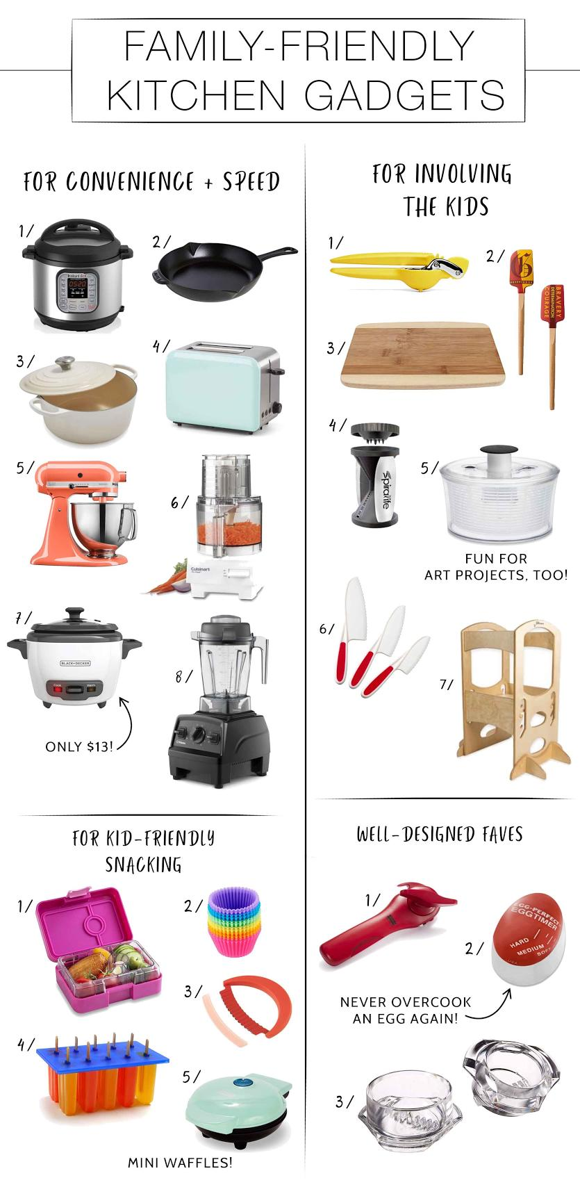 Kiddos in the kitchen? YUP. So, let's make it easy —a family-friendly kitchen, with all the handy dandy kitchen gadgets you need —list right here.