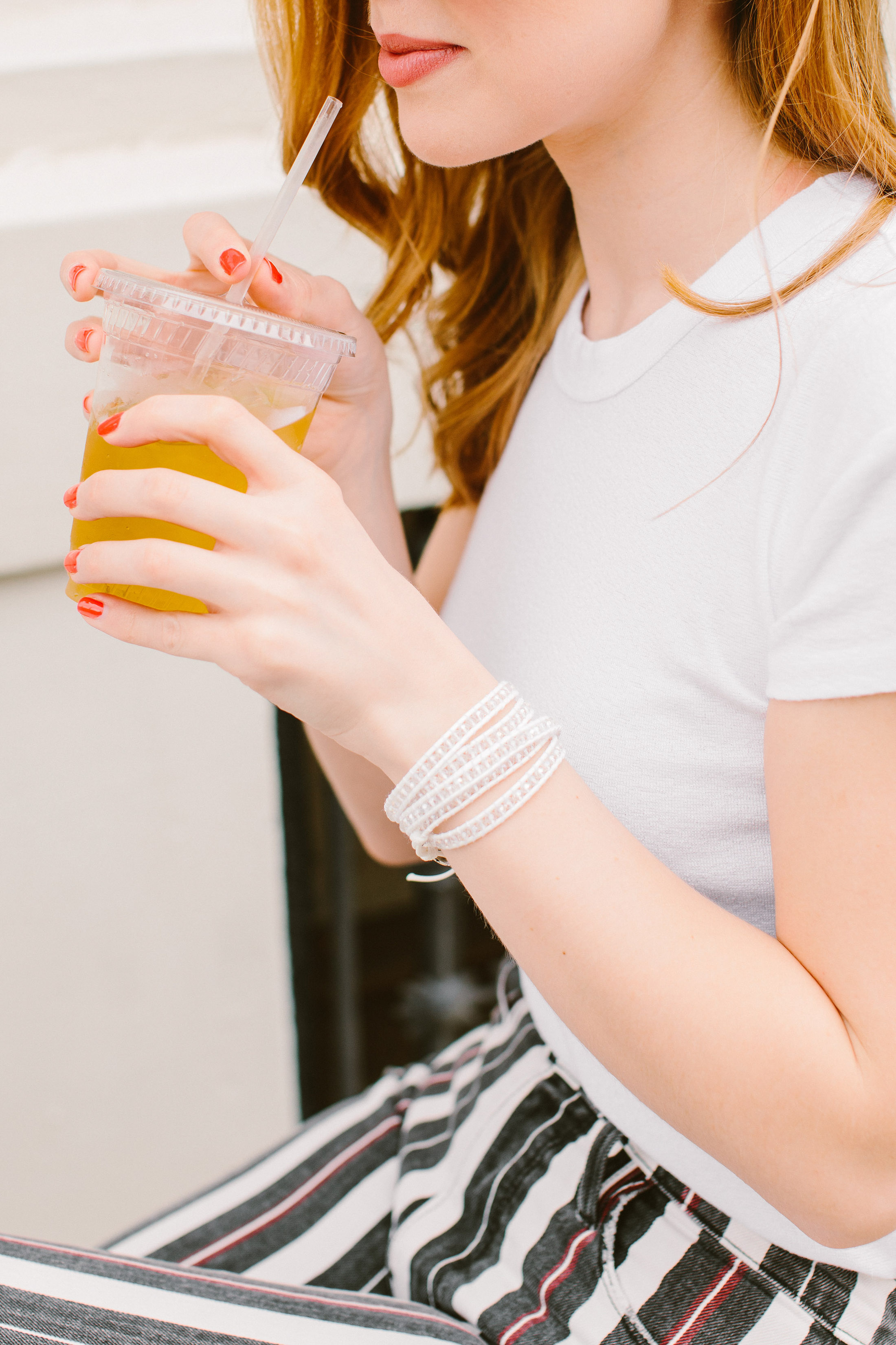 It's Summertime! We're breaking out the Victoria Emerson wrap bracelets —the perfect accessory for beach & vacation travel outfits. Wear 'em like this...