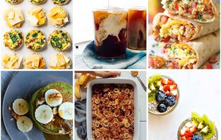 We've got breakfast on the mind — probably b/c kids + mornings = HARD. For healthy breakfast ideas, we're eyeing these 10 make-ahead recipes.