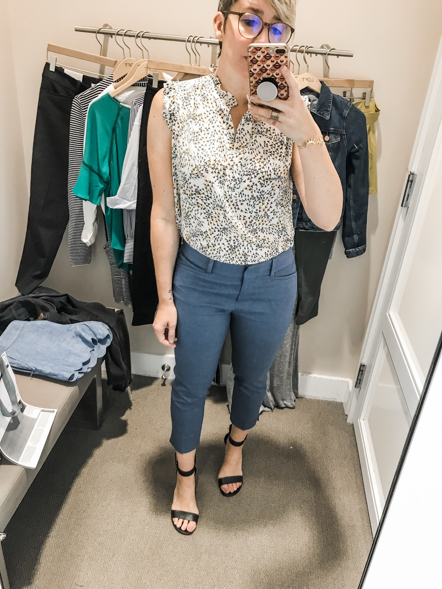 It's definitely time for a round of #dressingroomselfies from LOFT. Cute spring & summer outfit pieces are on order — for both work & weekend. Let's go.