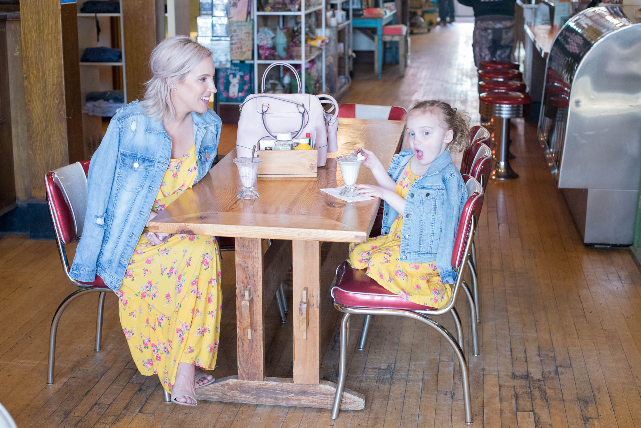 Wearing mommy-and-me dresses & matching pajamas takes mother-daughter days to the next level for our littles. Our favs for Mama's Day are inside.