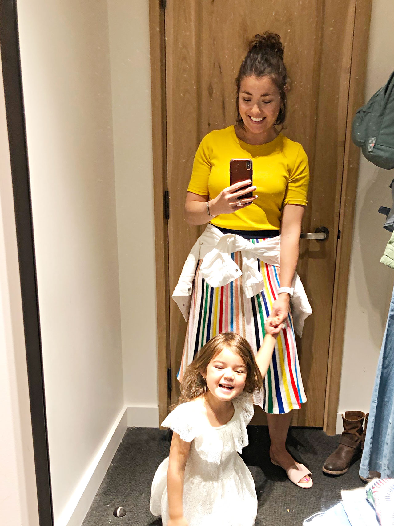 A ton of flattering rainbow stripe, a cute chambray jumpsuit, some dress 'em up/dress 'em down dresses & more — my J.Crew sale picks, right here