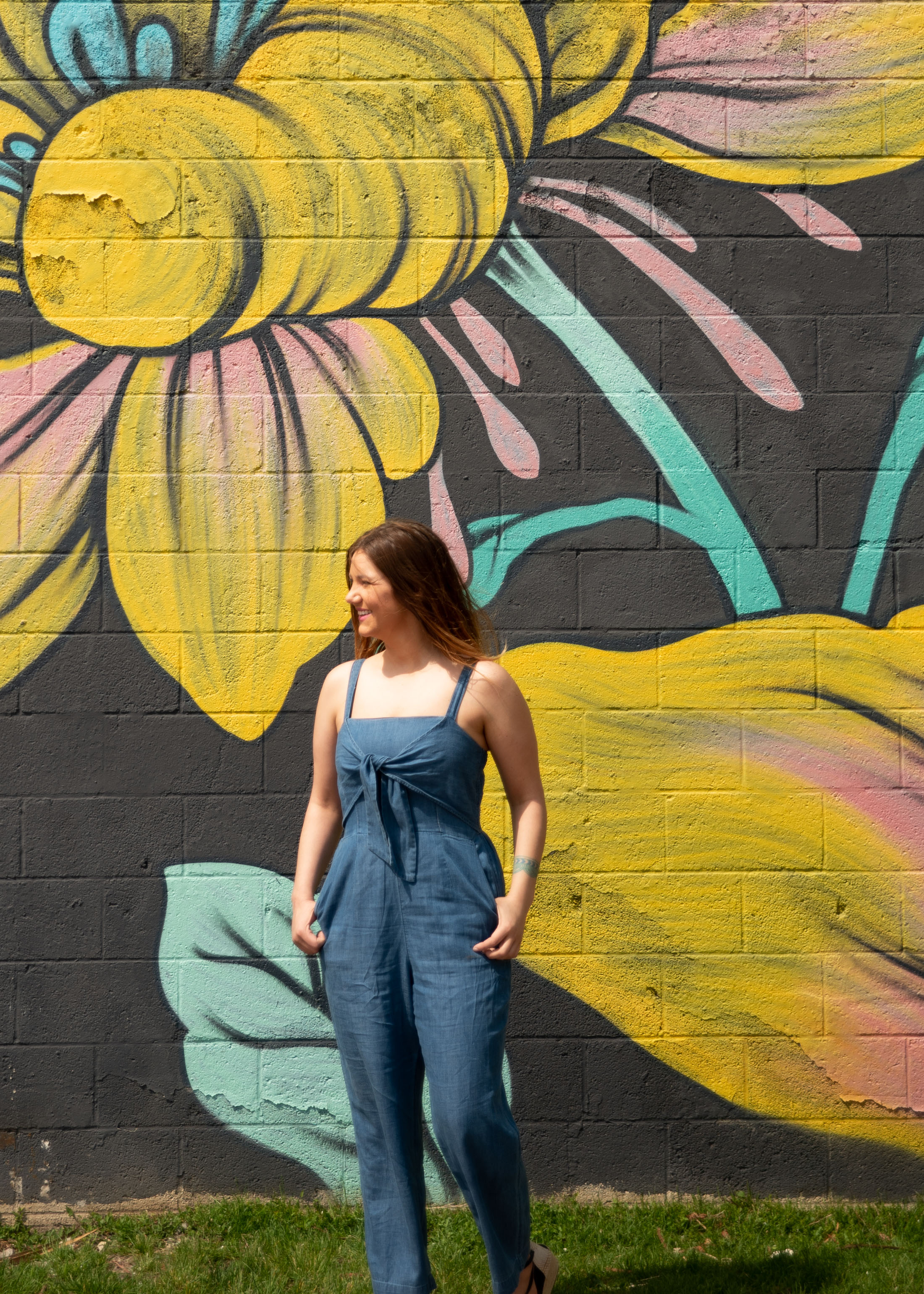 Easy everyday summer outfit? Enter this casual chambray jumpsuit for under $50. BOOM — cotton & lyocell, it's totally breathable. Check it out.