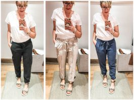 Cute summer outfits sans shorts? We're on it. #dressingroomselfies at Anthropologie. Check out joggers, paperbag & high-waist pants —some with Tencel.